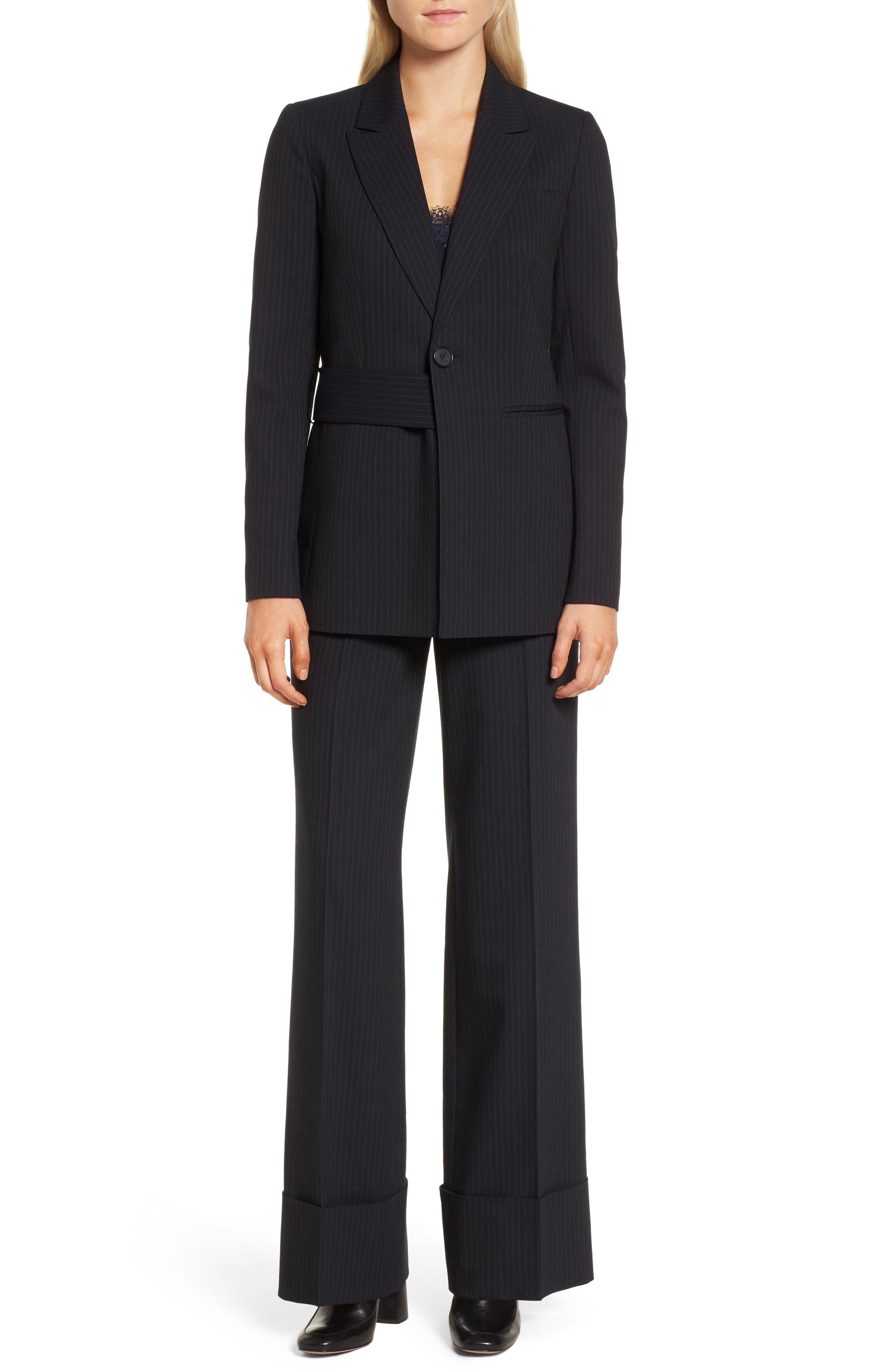 Pinstripe Suit Jacket,                             Alternate thumbnail 2, color,                             Navy Night Pinstripe