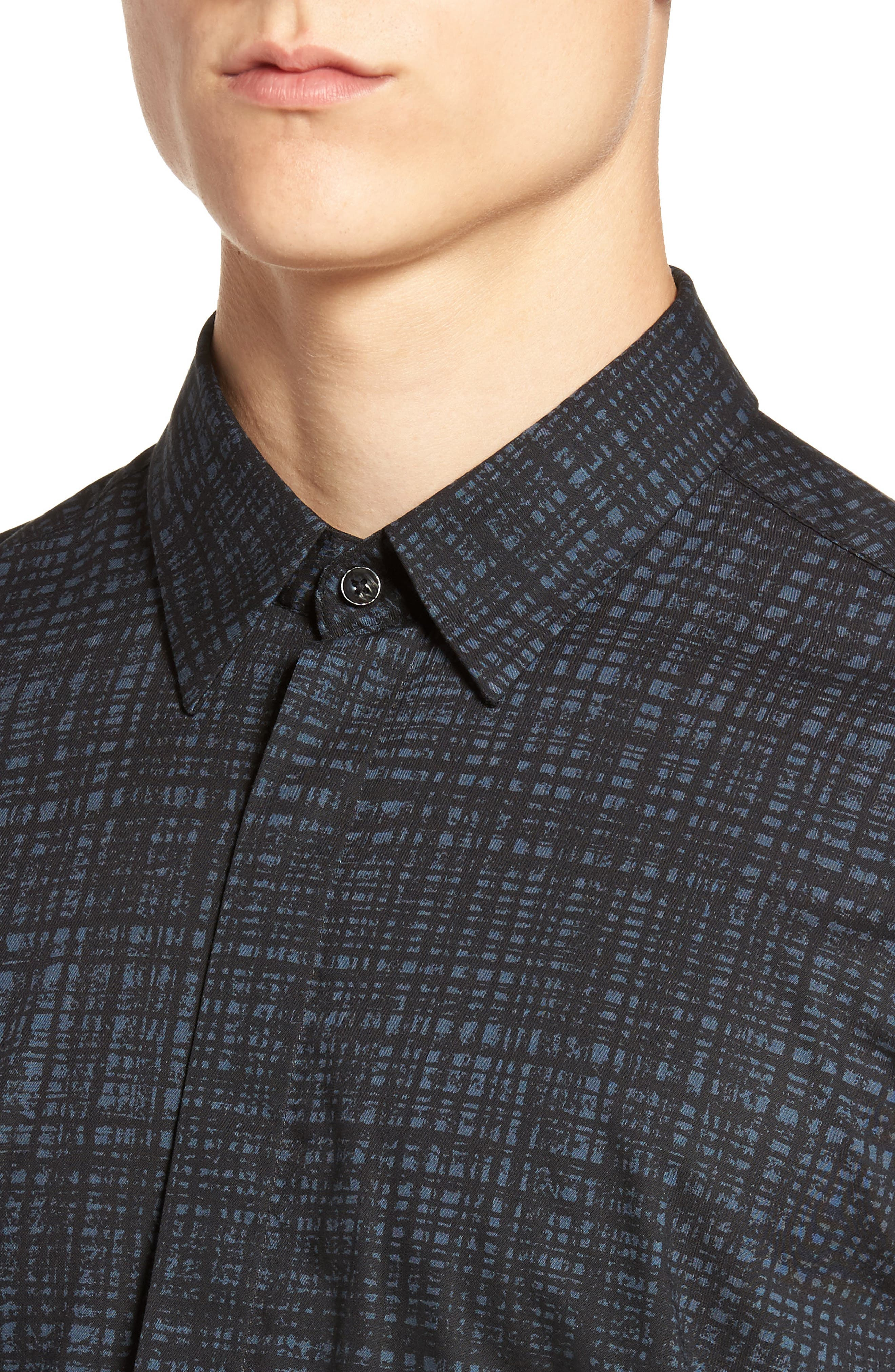 Pattern Shirt,                             Alternate thumbnail 4, color,                             Pacific Blue