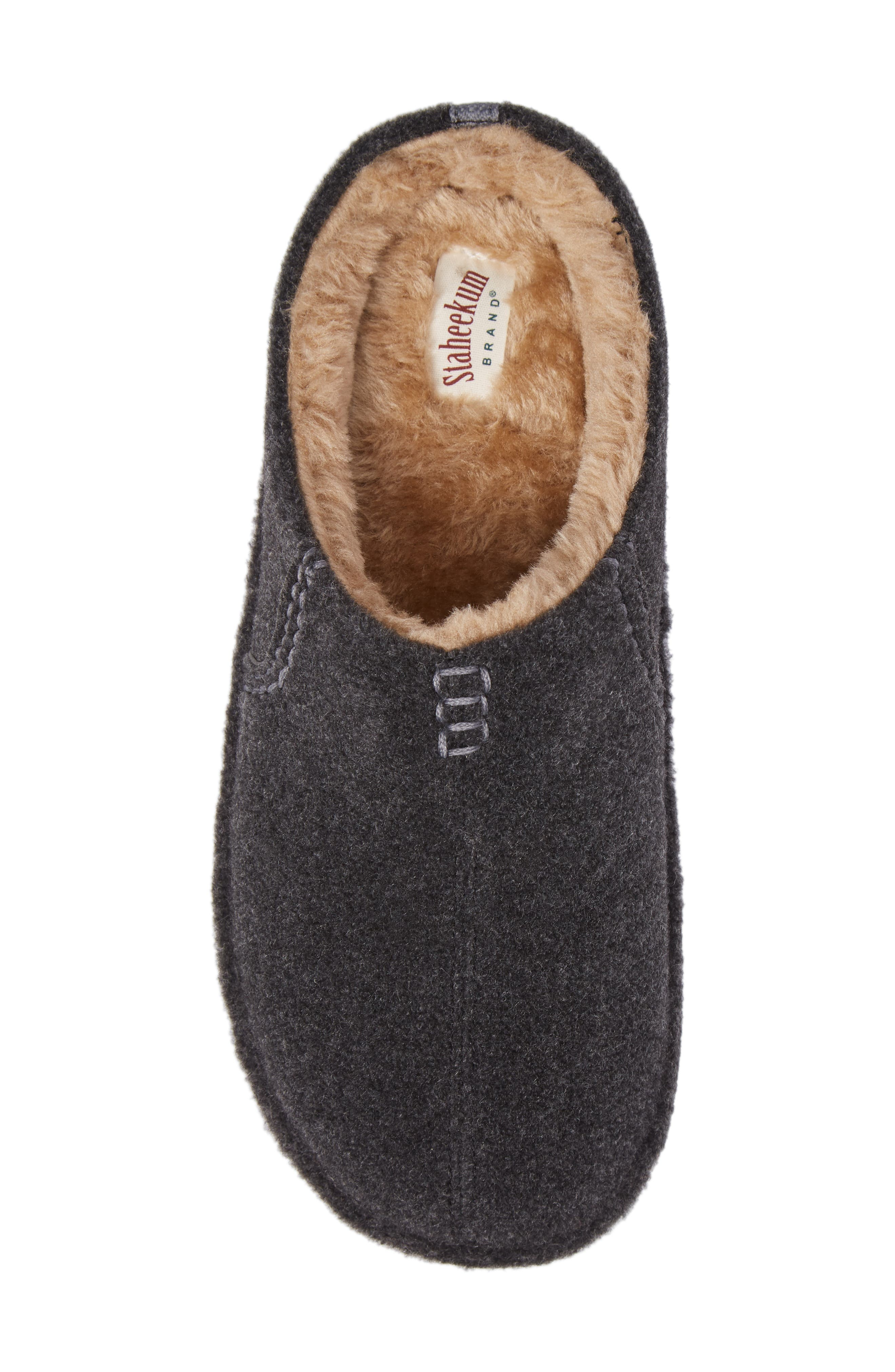 Timber Scuff Slipper,                             Alternate thumbnail 5, color,                             Charcoal Felt/ Polyester
