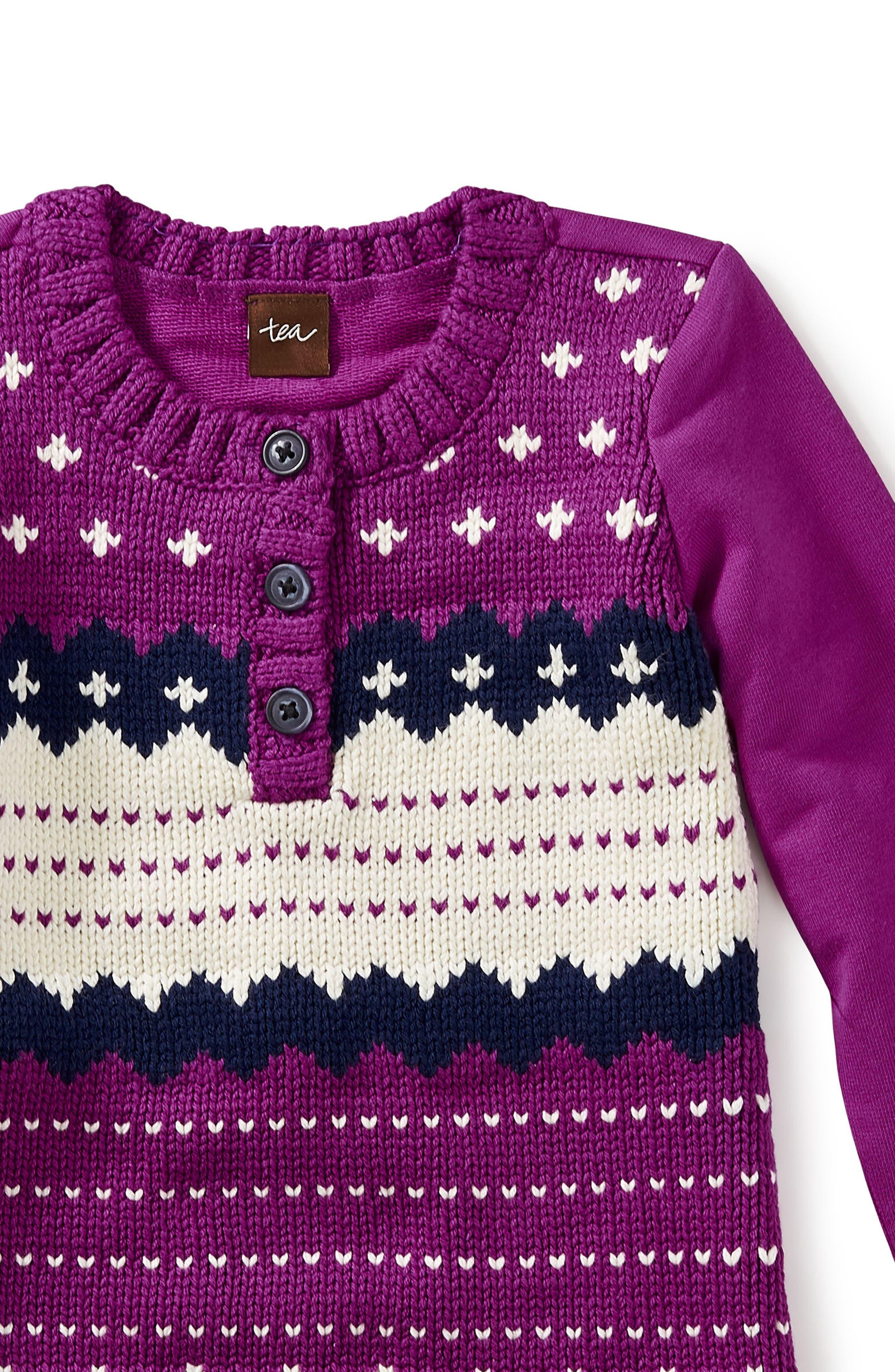 Fair Isle Sweater Dress,                             Alternate thumbnail 2, color,                             Dragon Fruit