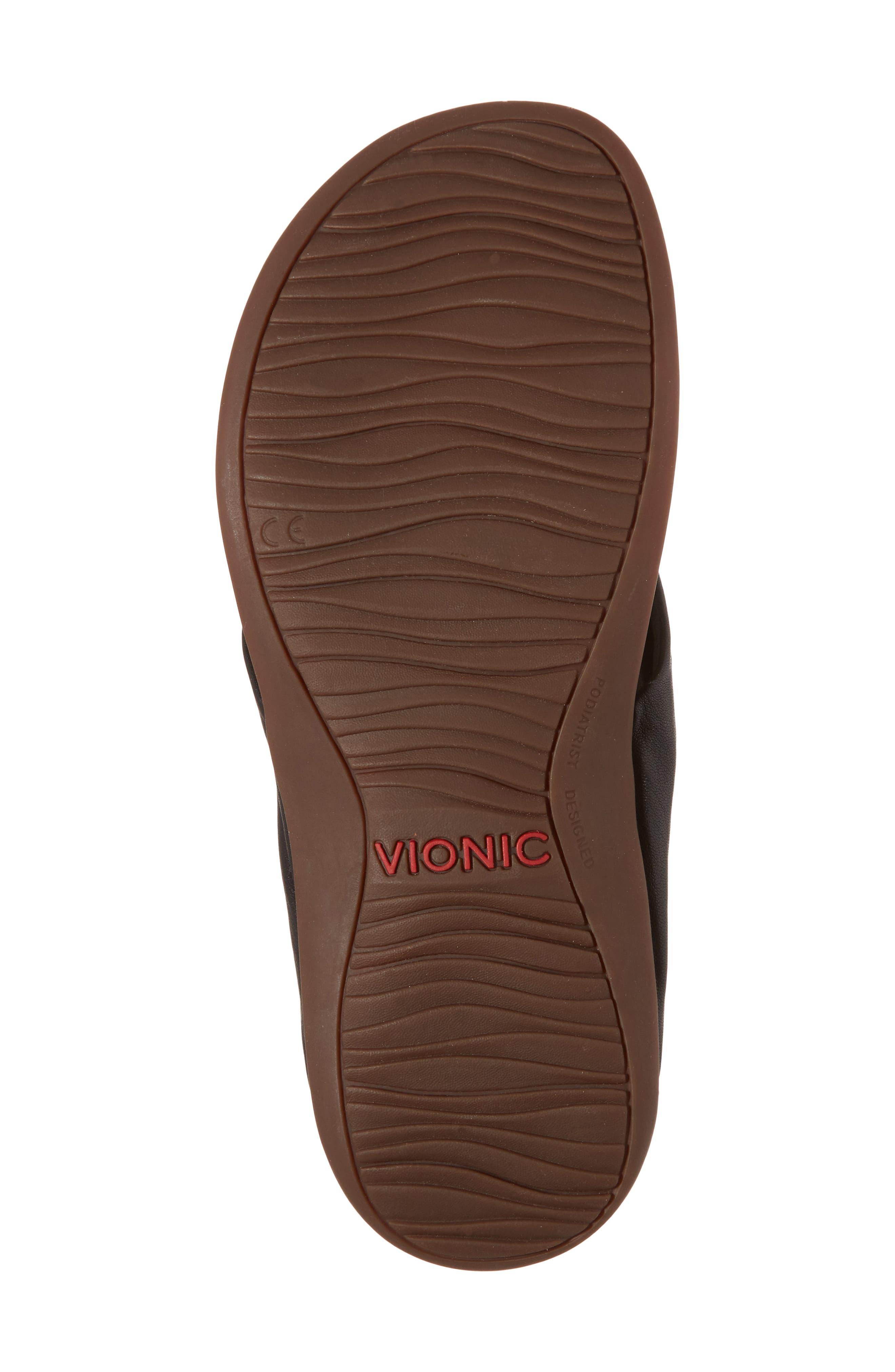 Pippa Flip Flop,                             Alternate thumbnail 6, color,                             Black Leather