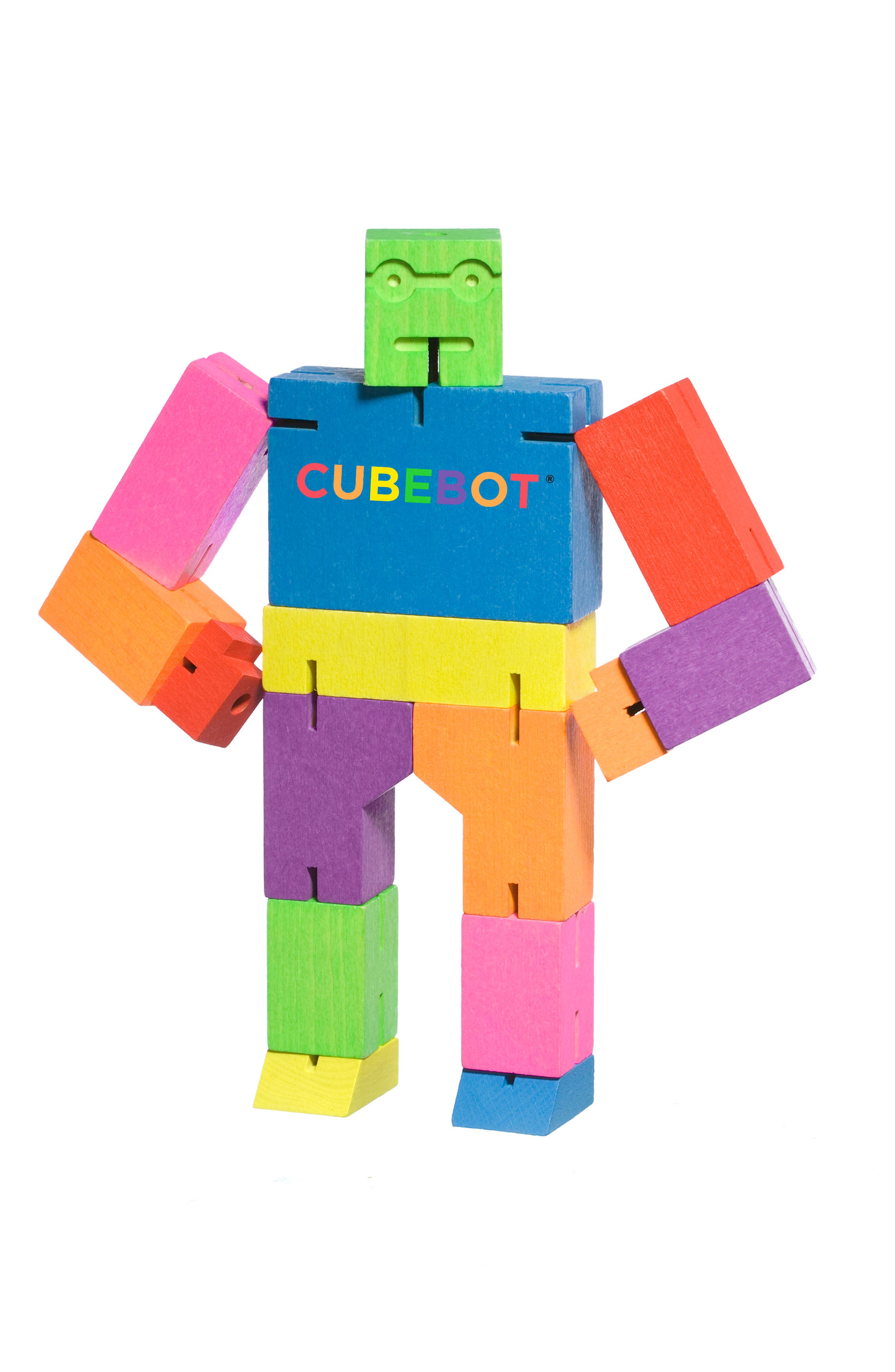 Alternate Image 2  - Areaware Cubebot Small Wooden Robot Toy