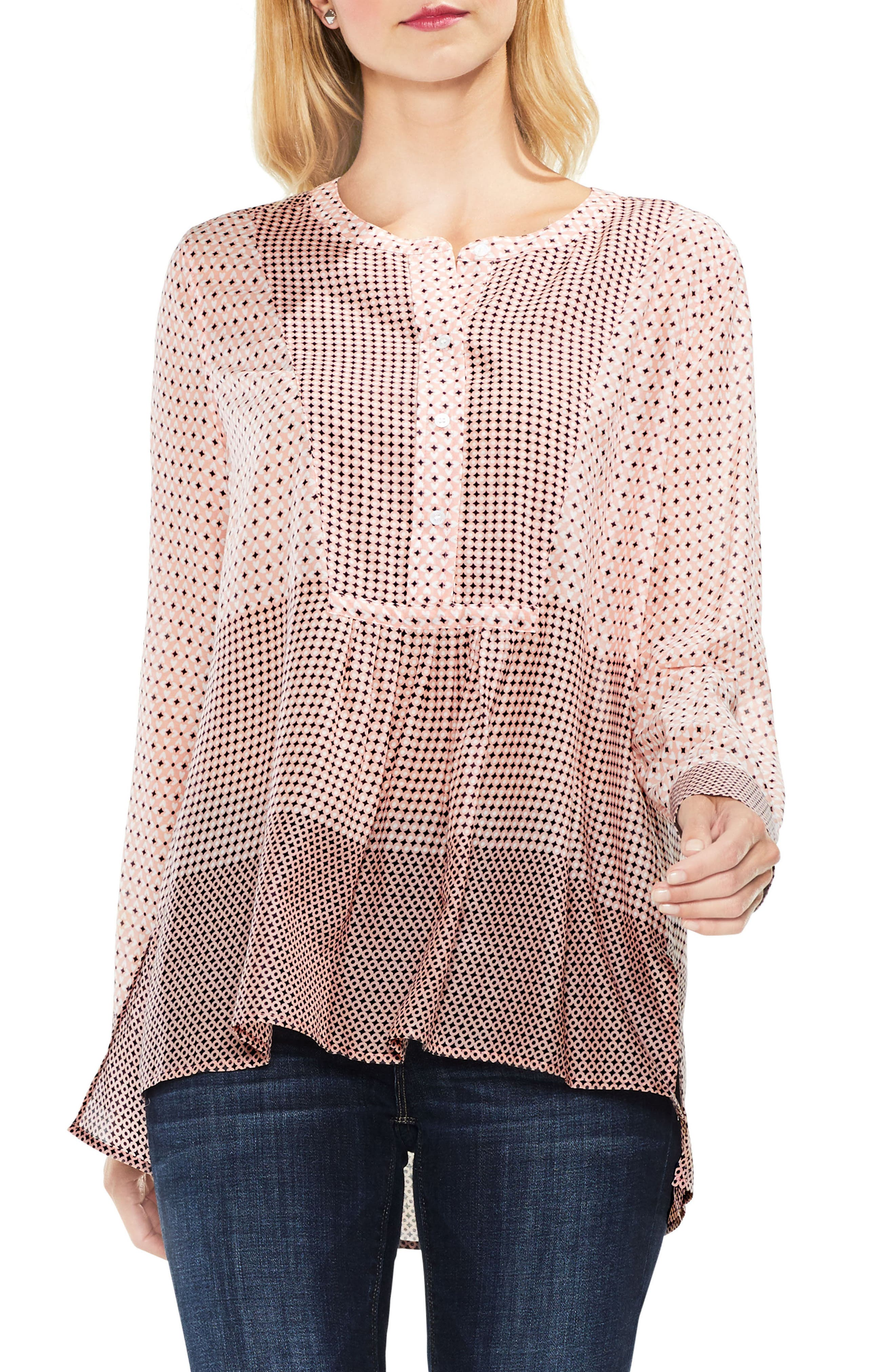 Two by Vince Camuto Quiet Tile Border Bib Henley