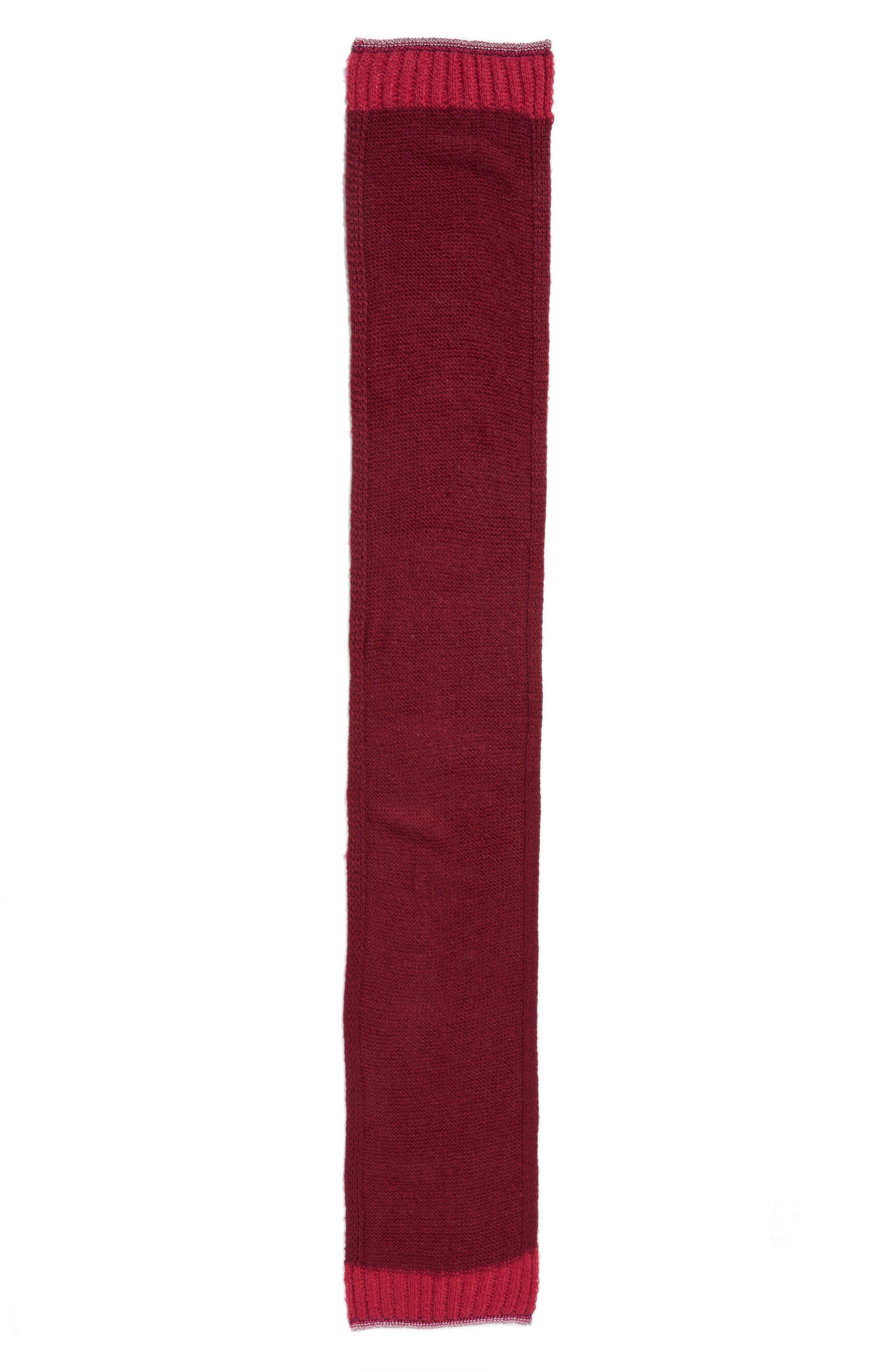 Metallic Tipped Scarf,                             Alternate thumbnail 2, color,                             Burgundy Combo