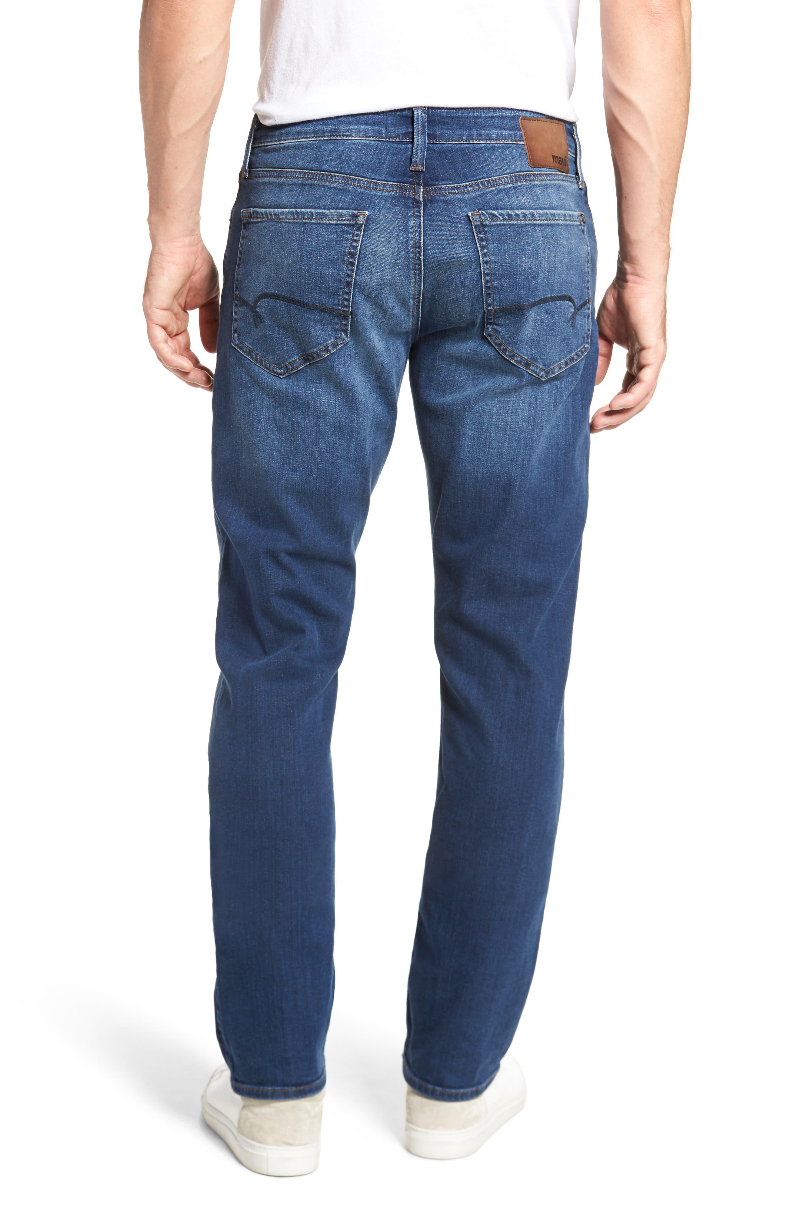 Alternate Image 2  - Mavi Jeans Myles Straight Fit Jeans (Dark Used Williamsburg)