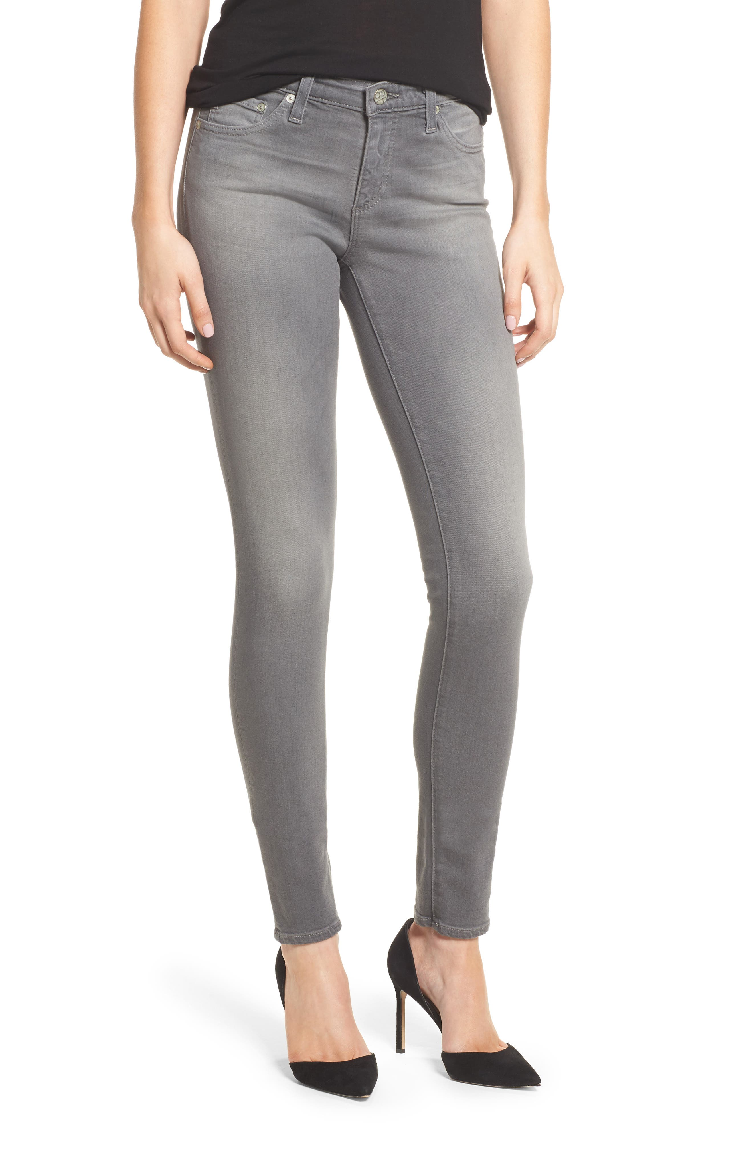 Main Image - AG The Legging Super Skinny Jeans (10 Years Grey Shadow)
