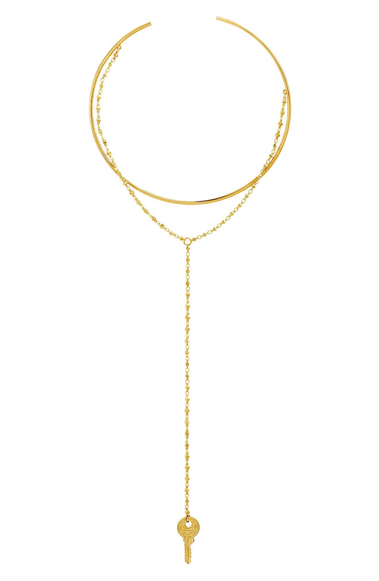 Y-Choker,                         Main,                         color, Gold