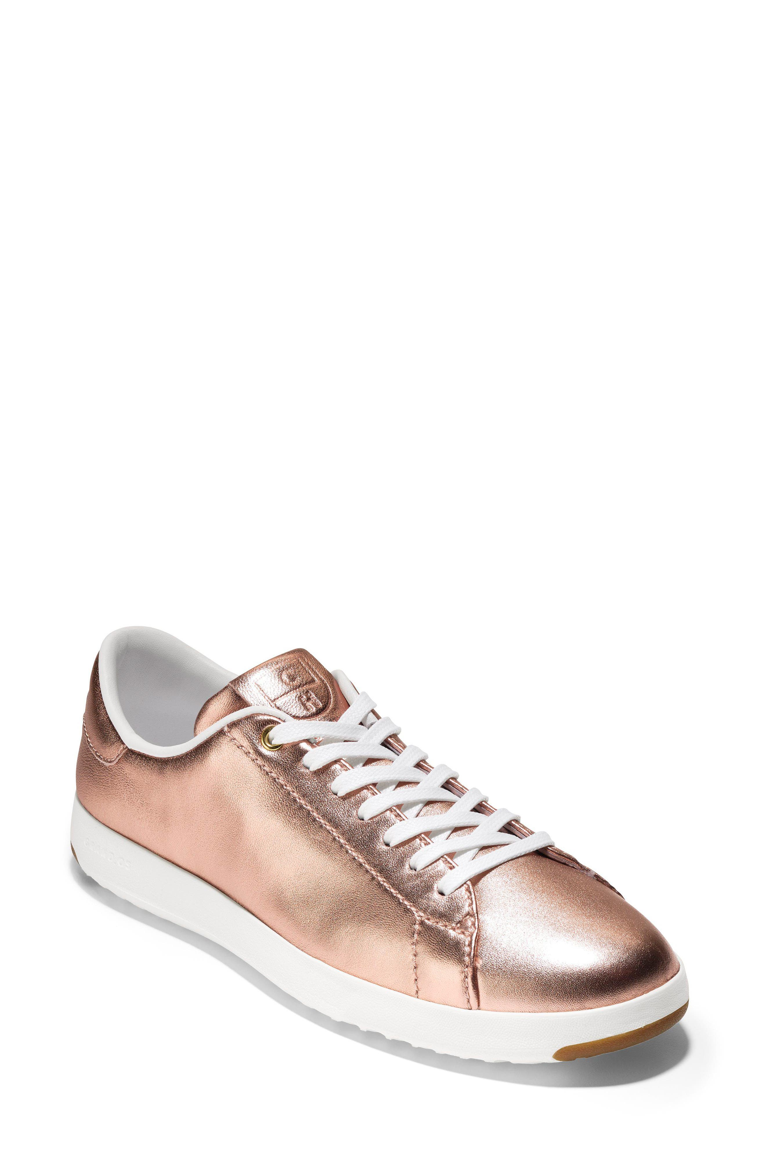GrandPro Tennis Shoe,                         Main,                         color, Rose Gold Leather