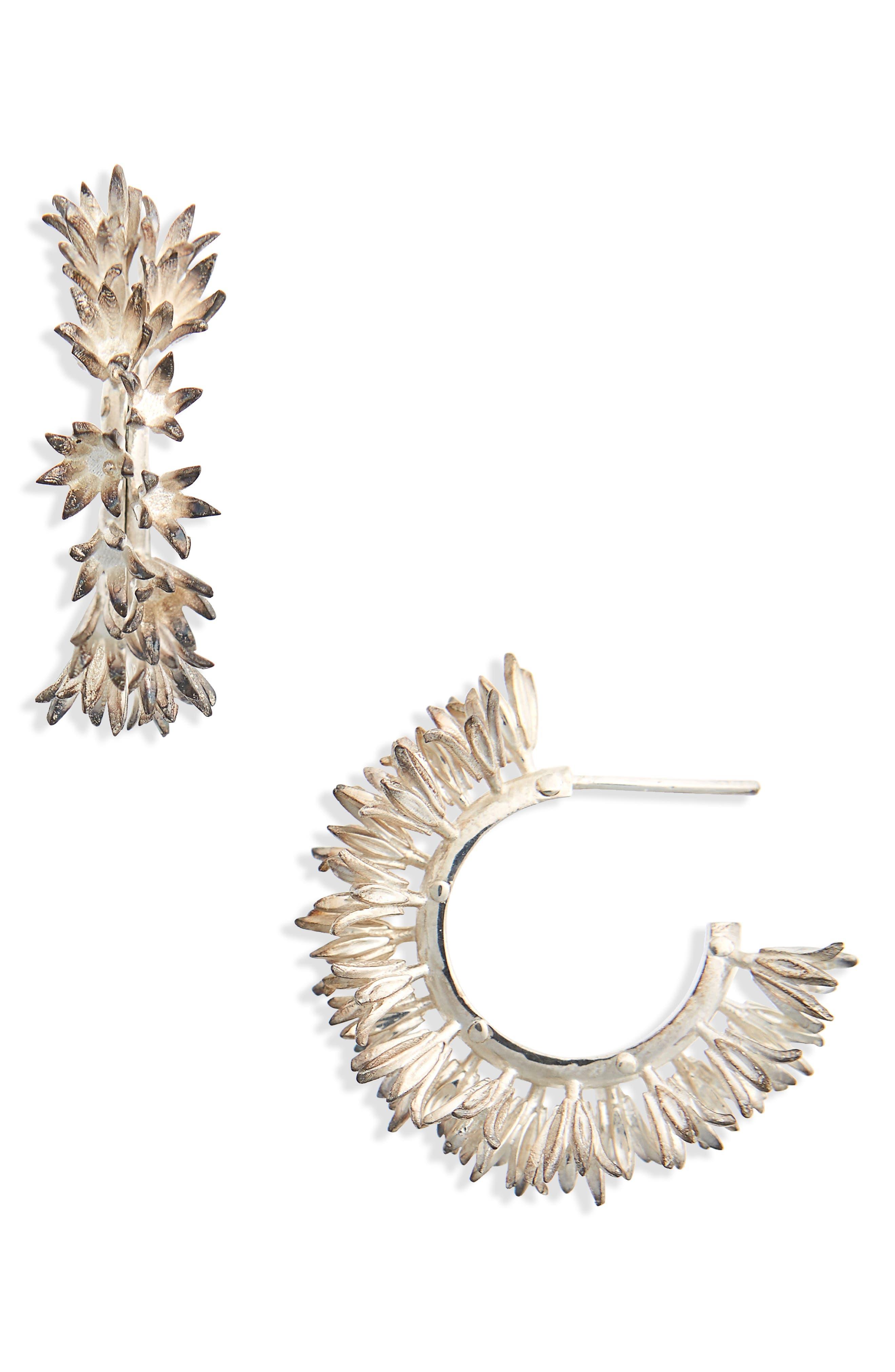 Main Image - Meadowlark Small Bluebell Hoop Earrings