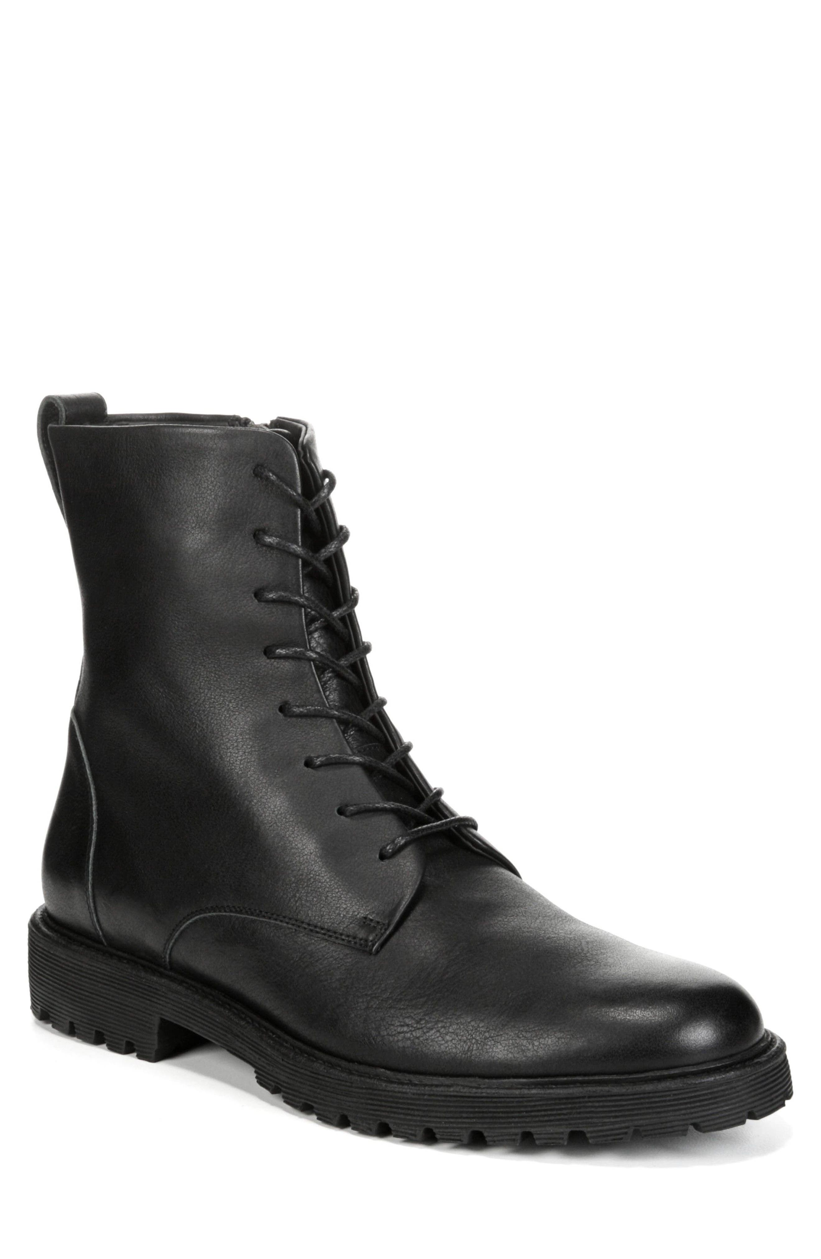 Brigade Plain Toe Boot,                             Main thumbnail 1, color,                             Black