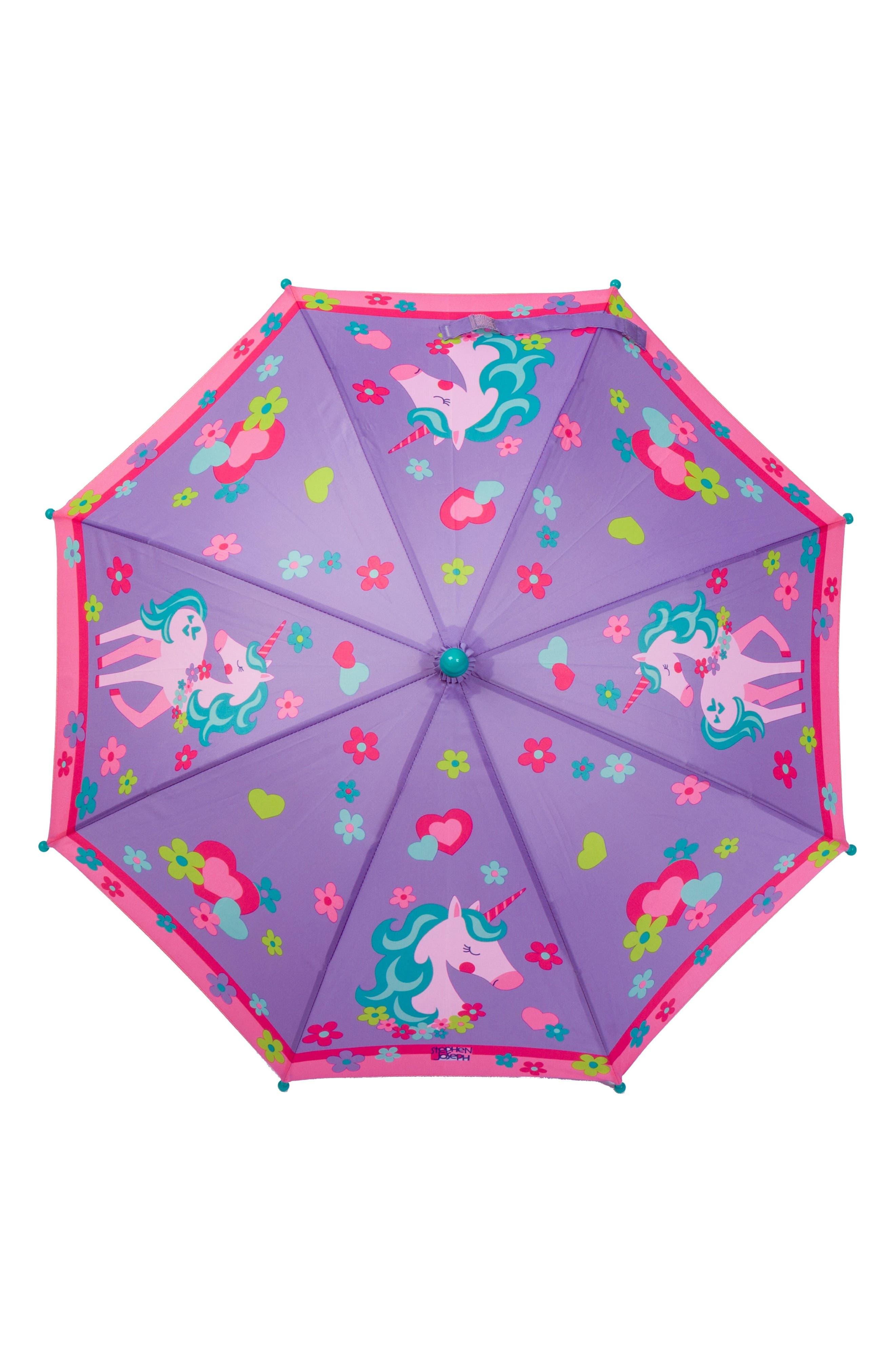 Alternate Image 5  - Stephen Joseph Unicorn Raincoat & Umbrella Set (Toddler Girls, Little Girls)