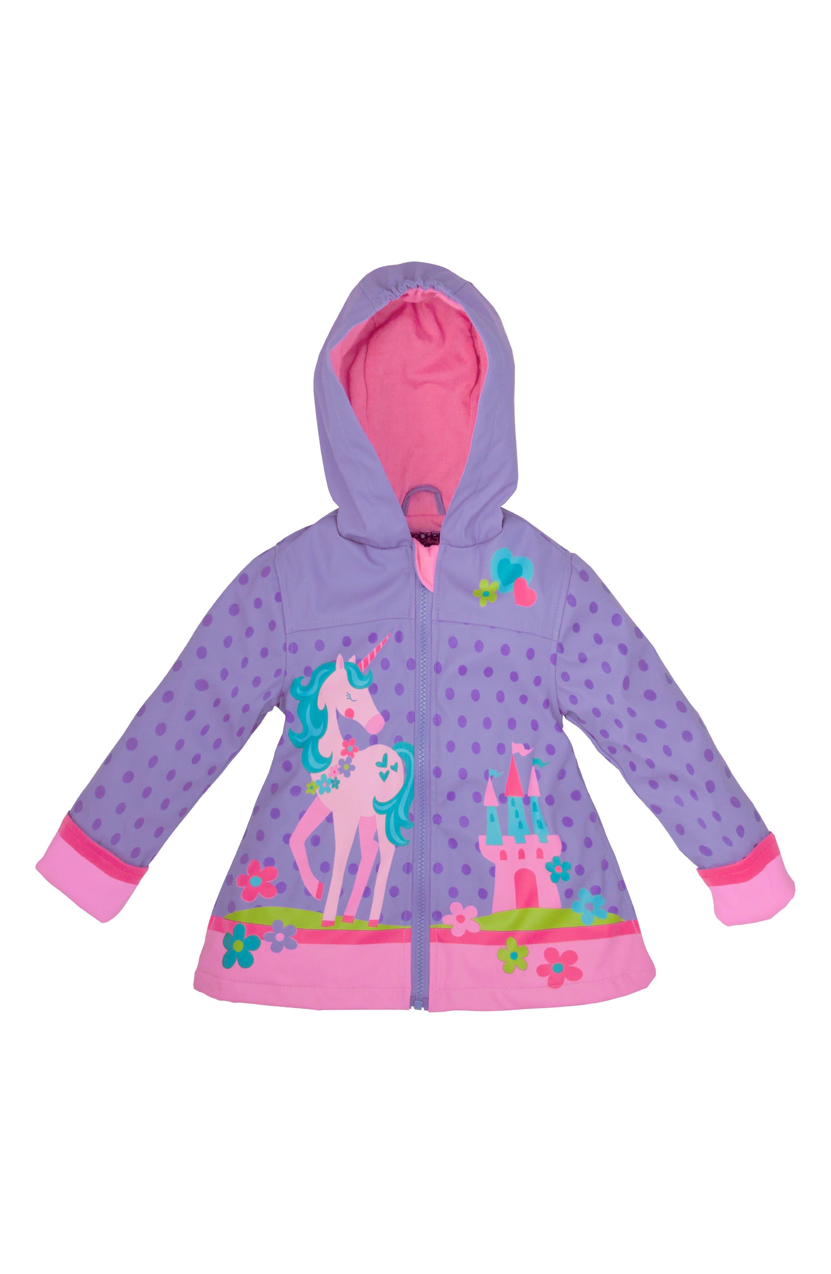 Alternate Image 2  - Stephen Joseph Unicorn Raincoat & Umbrella Set (Toddler Girls, Little Girls)