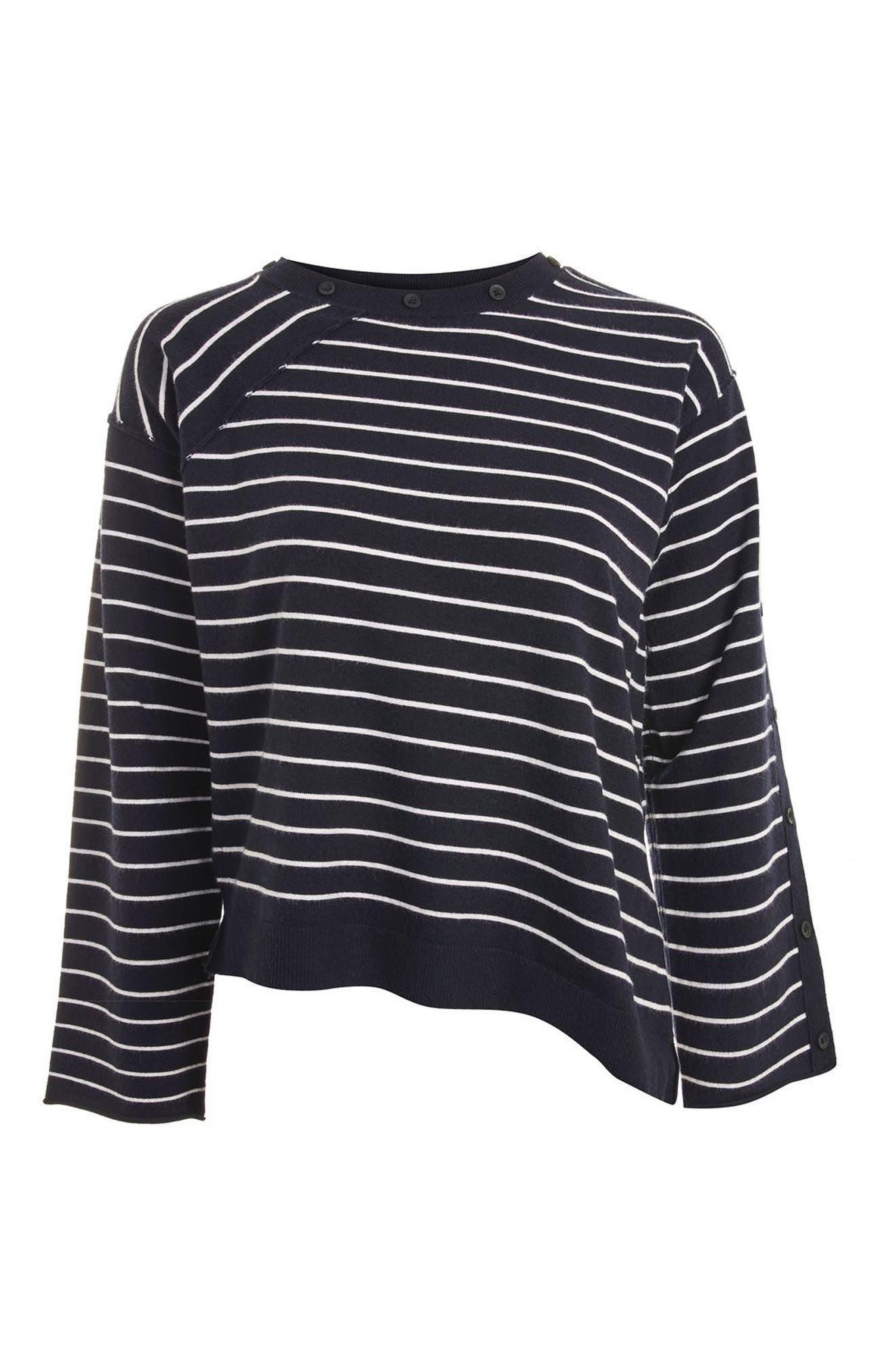 Alternate Image 4  - Topshop Asymmetrical Hem Sweater