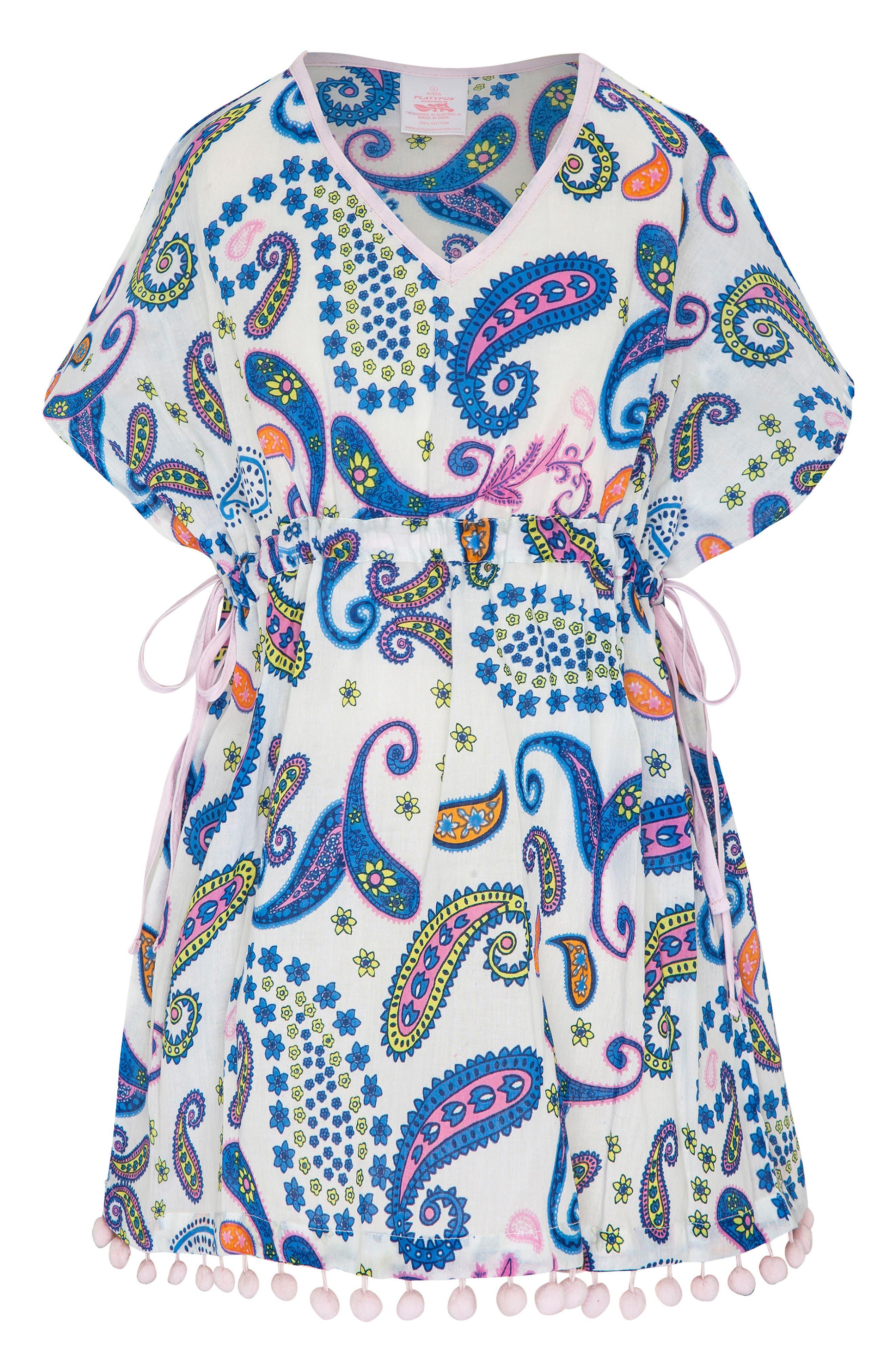 Print Cover-Up Dress,                             Main thumbnail 1, color,                             Boho Paisley