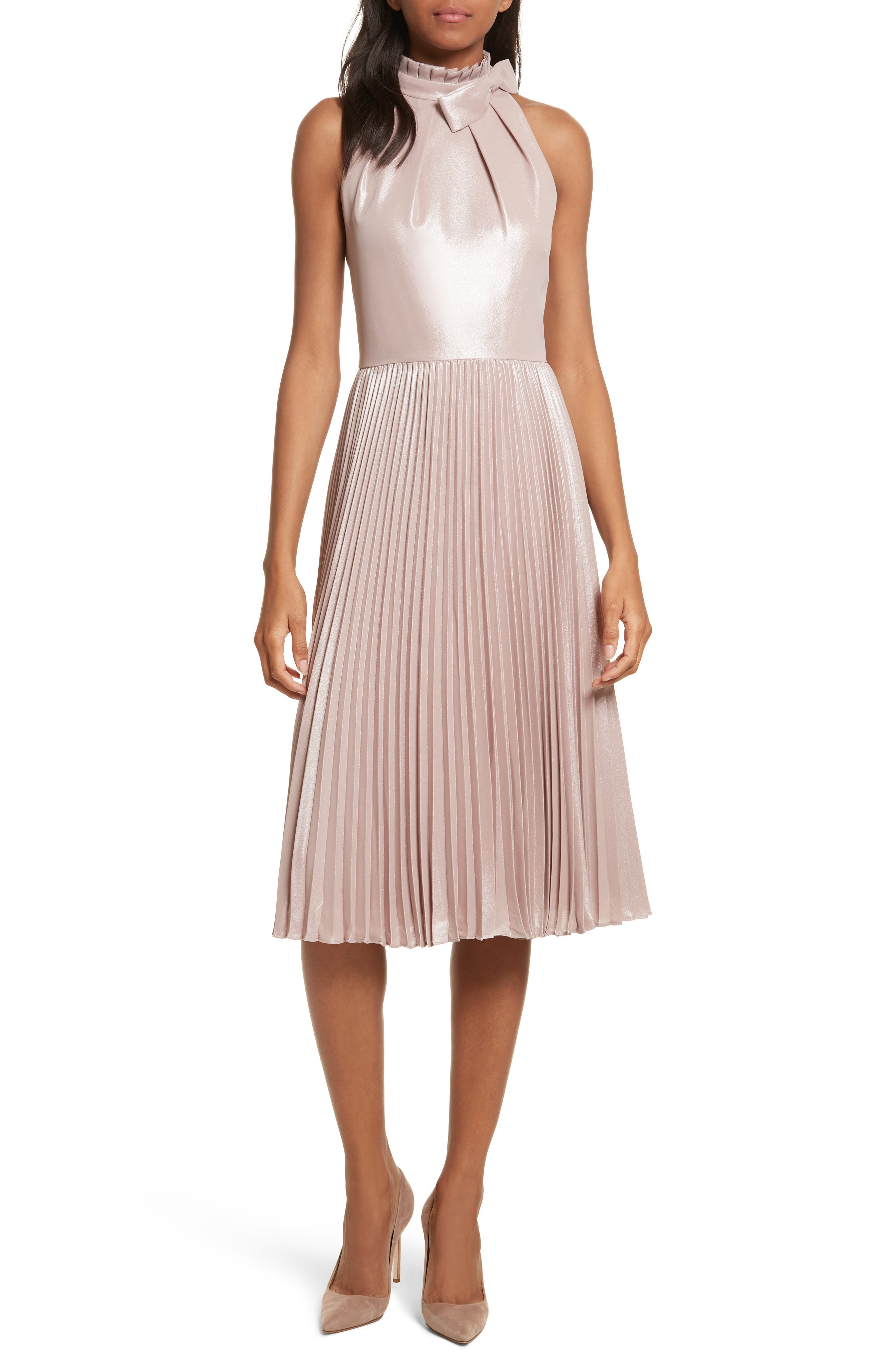 Ted Baker London Bow Neck Fit & Flare Dress