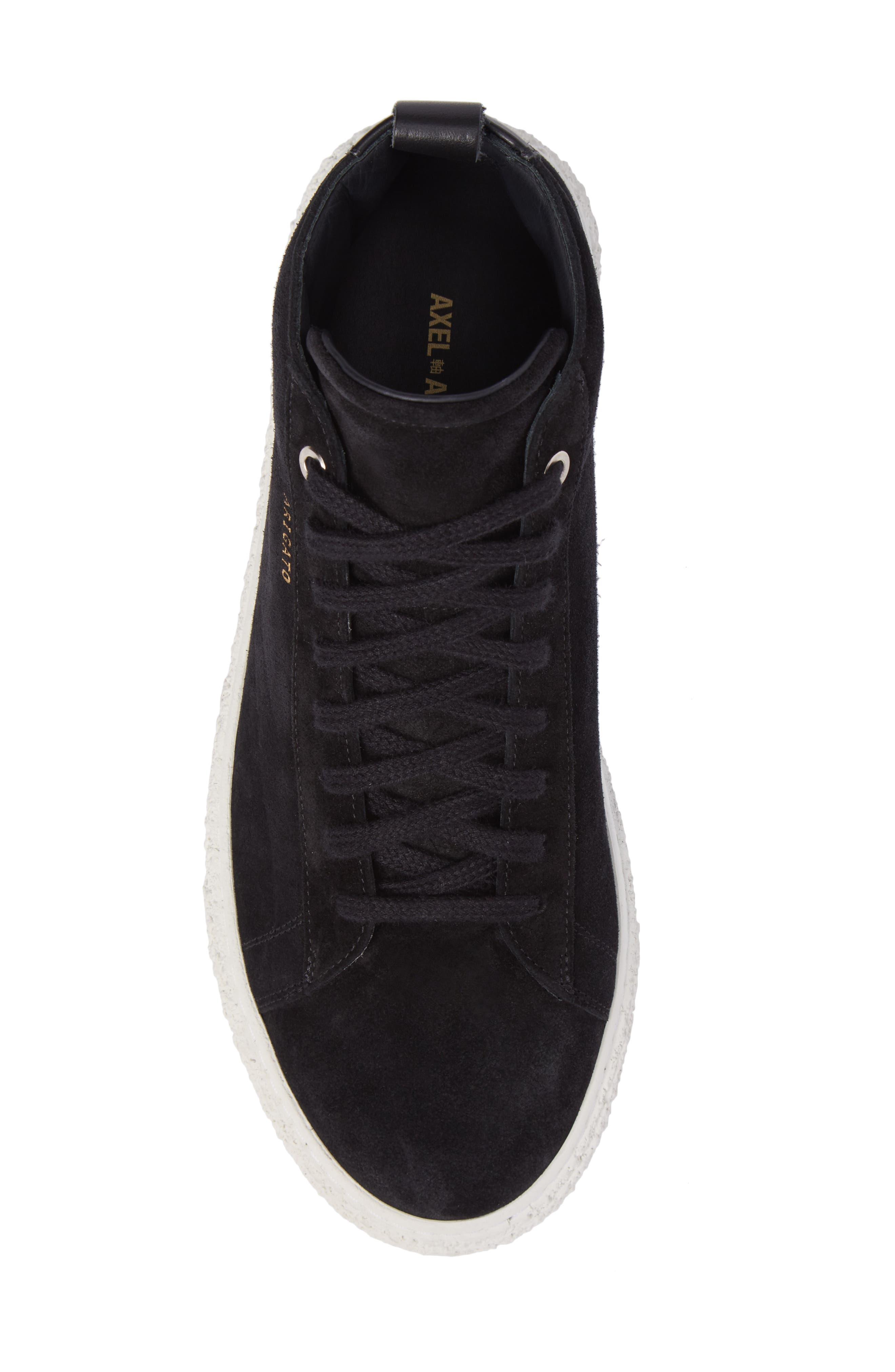 Chukka Sneaker,                             Alternate thumbnail 5, color,                             Black Suede