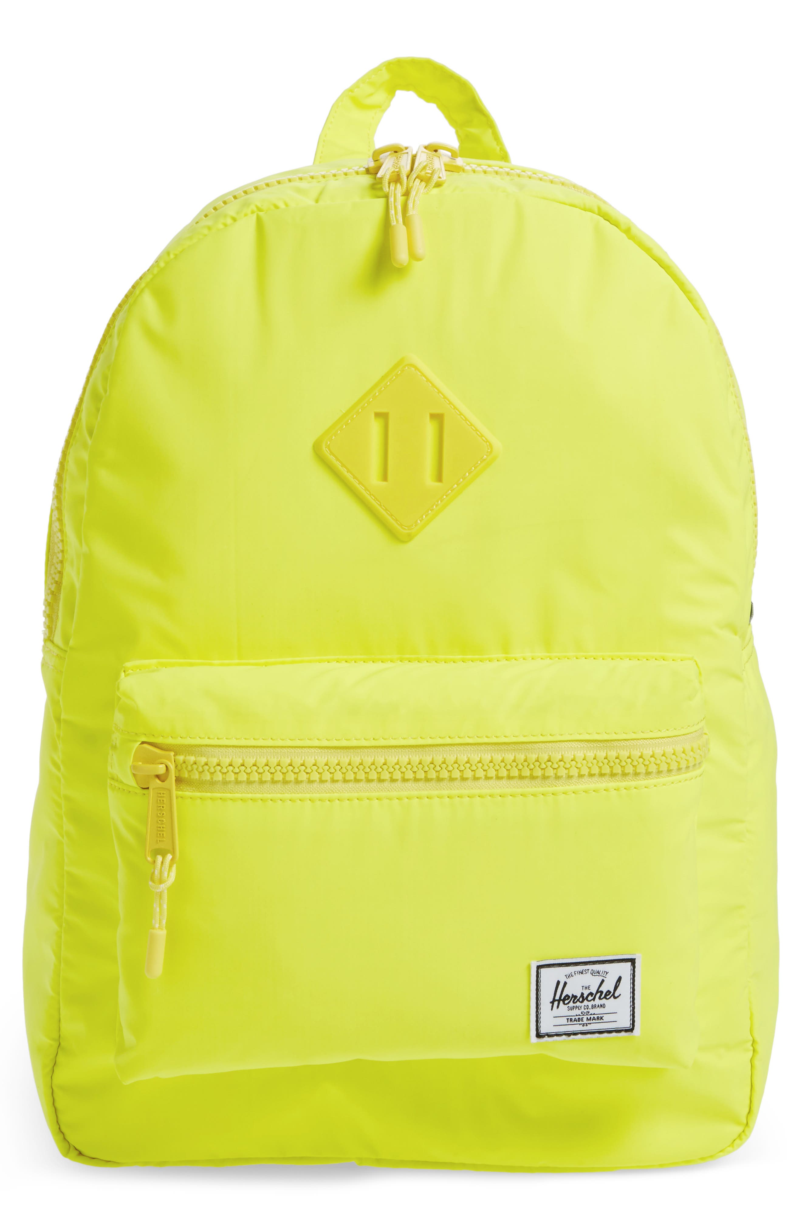 Heritage Backpack,                         Main,                         color, Neon Yellow Reflective Rubber