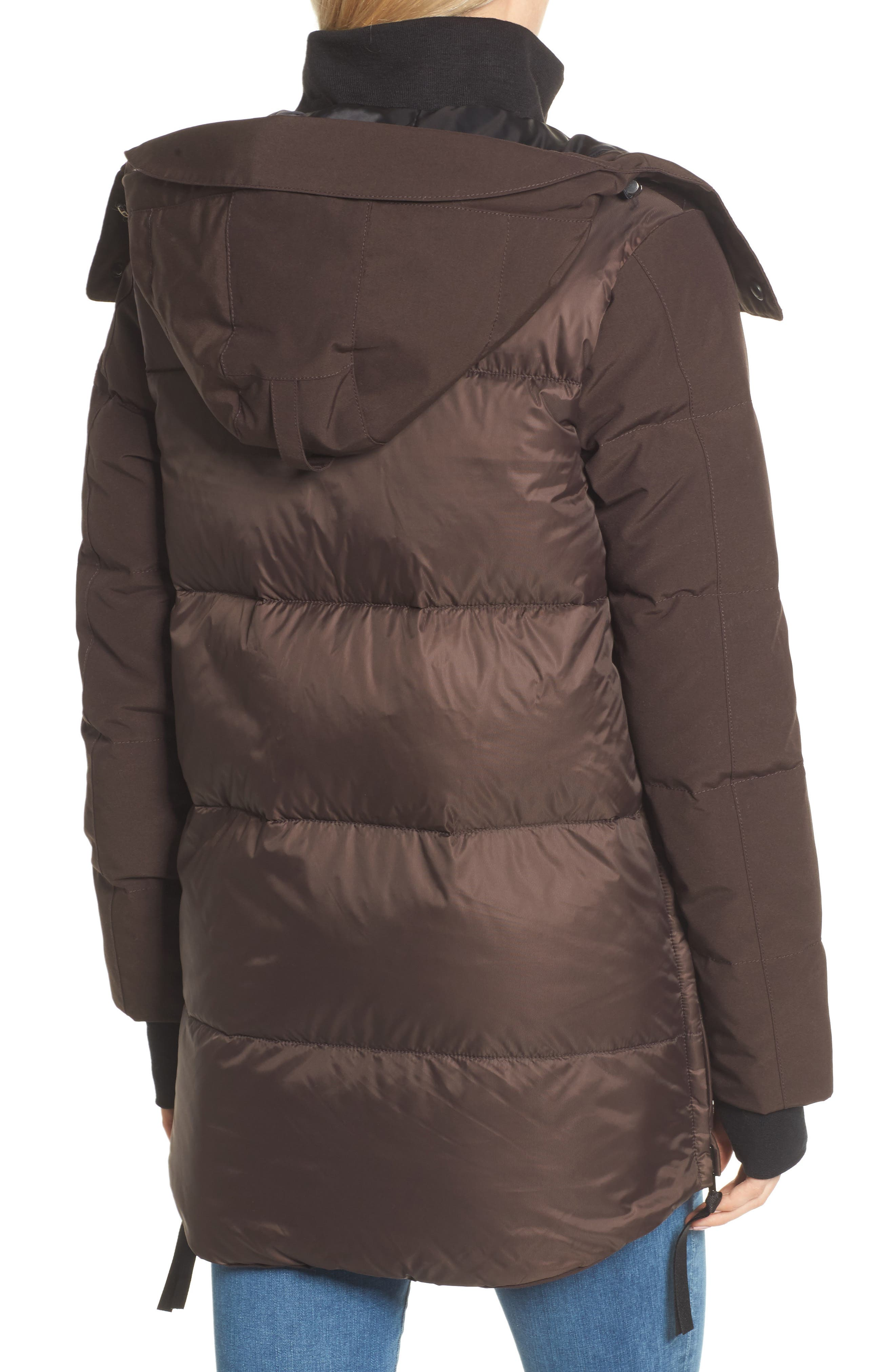 Whitehorse Hooded Water Resistant 675-Fill-Power Down Parka,                             Alternate thumbnail 2, color,                             Charred Wood