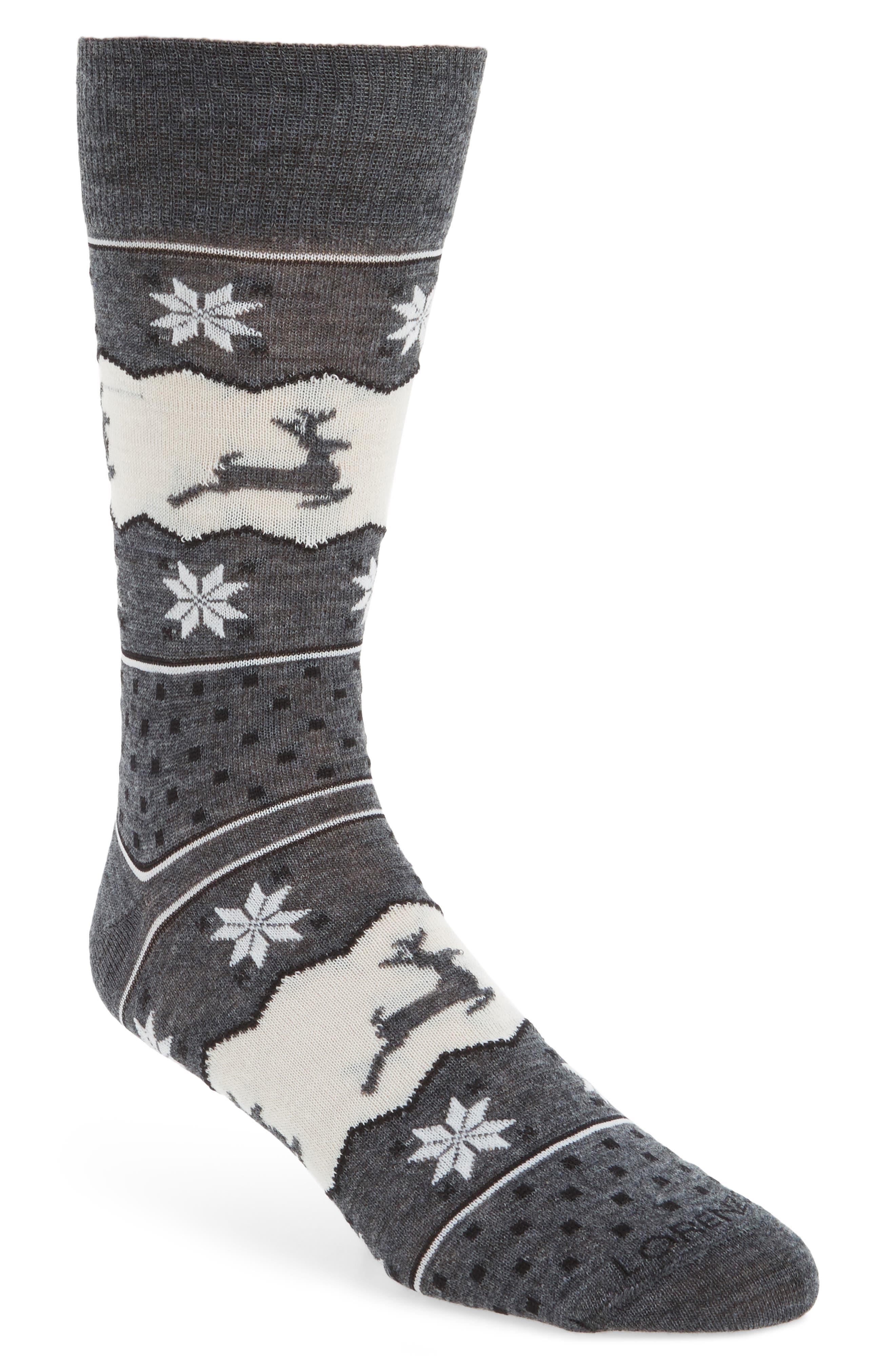 Lorenzo Uomo Fair Aisle Reindeer Socks