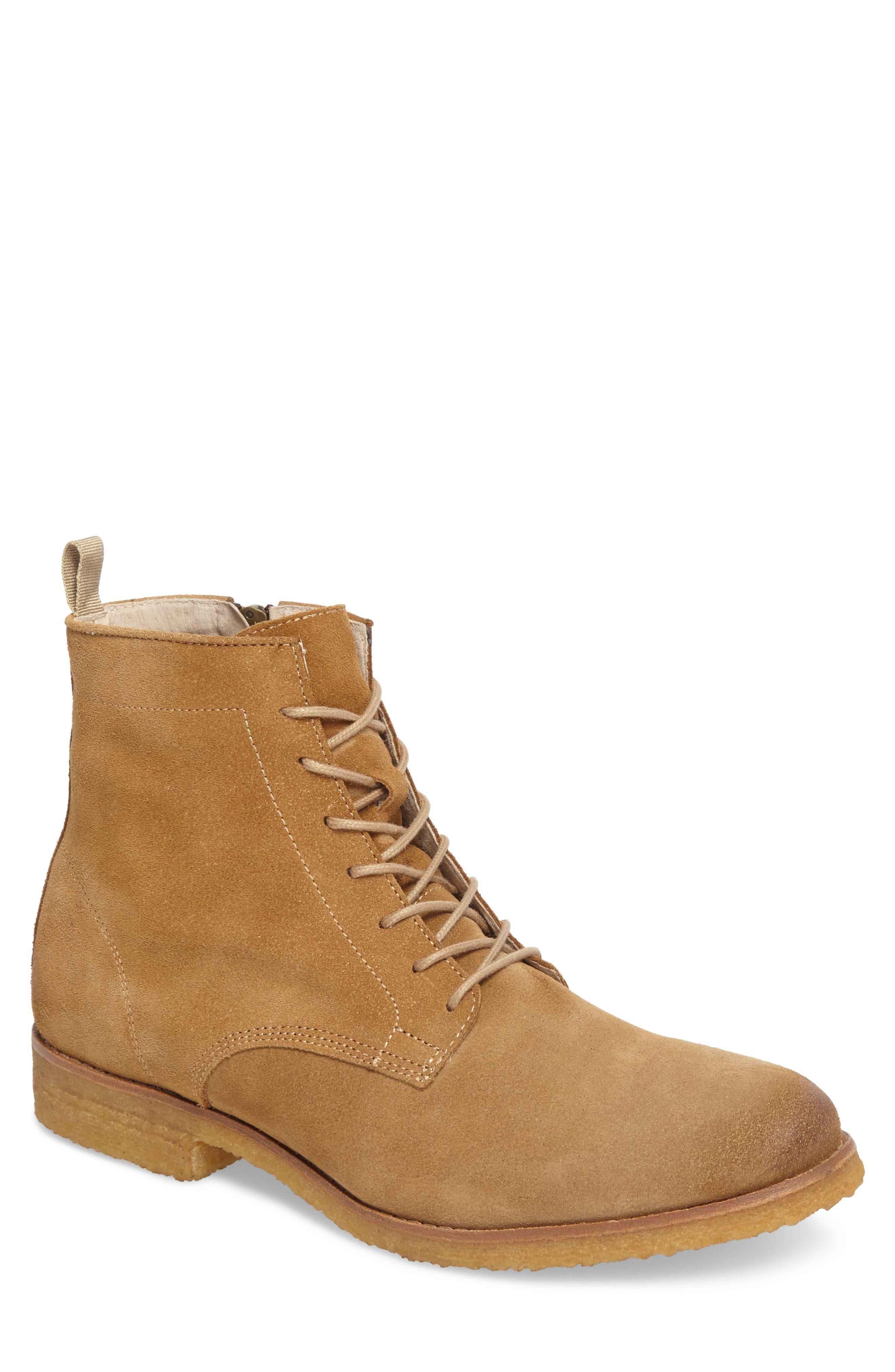 Jonah Plain Toe Boot,                         Main,                         color, Sand Suede