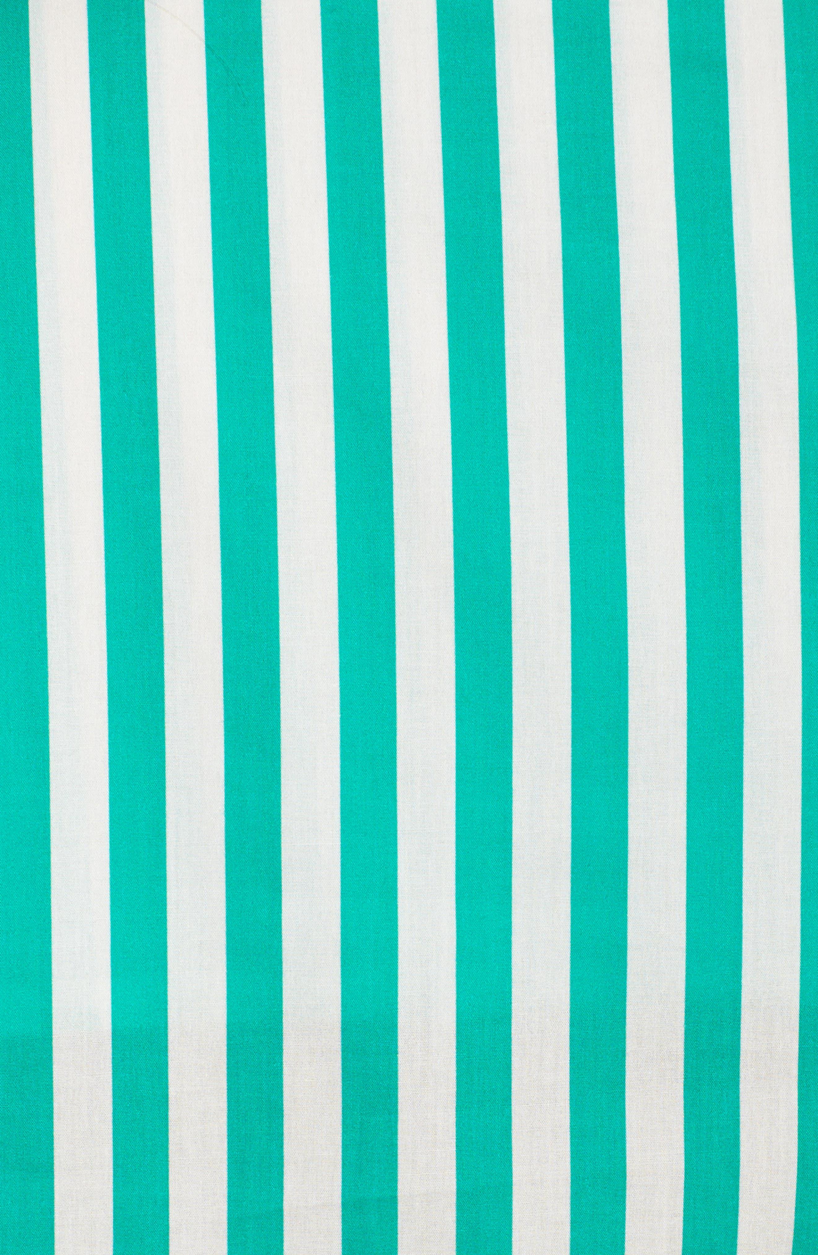 Alternate Image 6  - Yolke Classic Stripe Cotton Pajamas