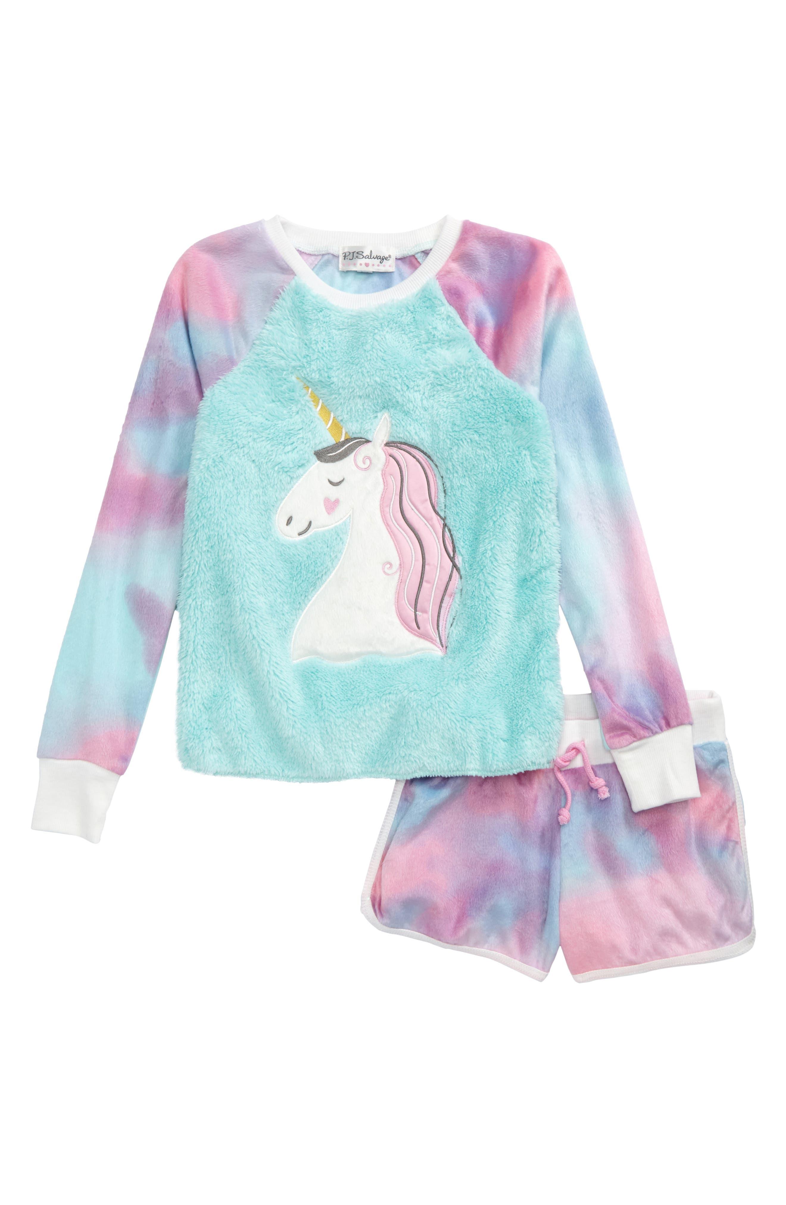 PJ Salvage Appliqué Two-Piece Pajamas (Big Girls)