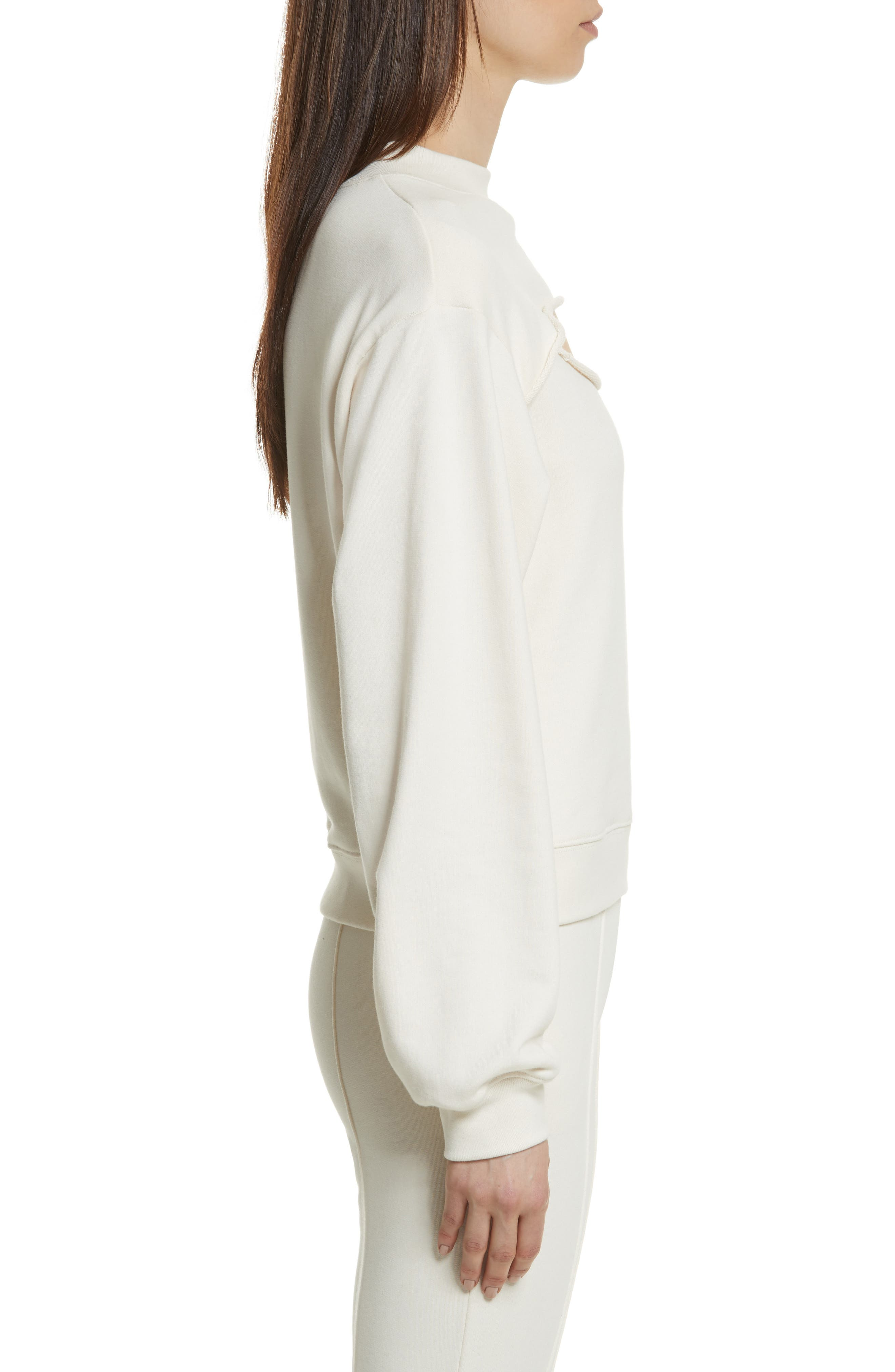 Alternate Image 3  - T by Alexander Wang Slit Front French Terry Top