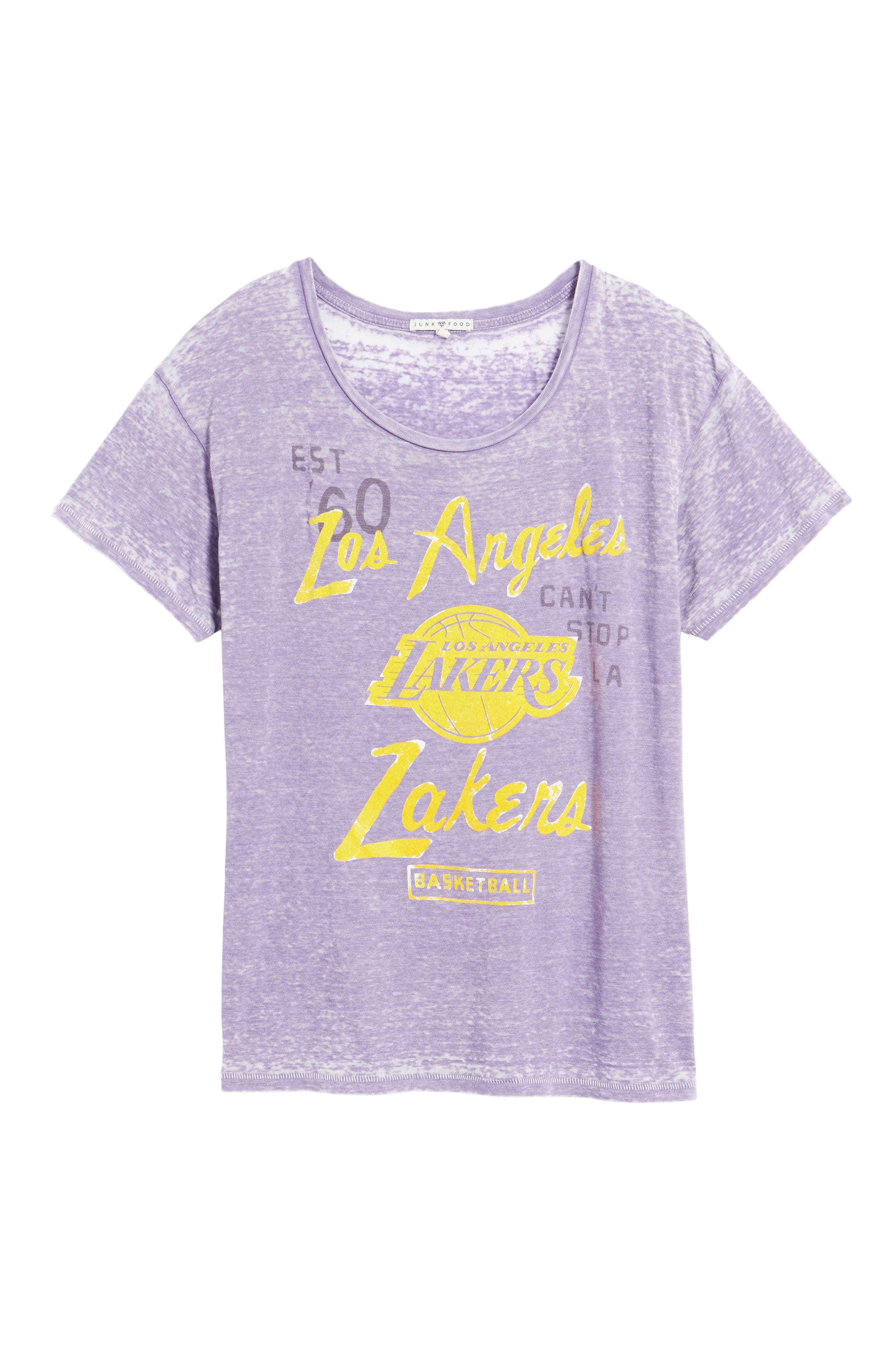 NBA Los Angeles Lakers Tee,                             Alternate thumbnail 6, color,                             Plum