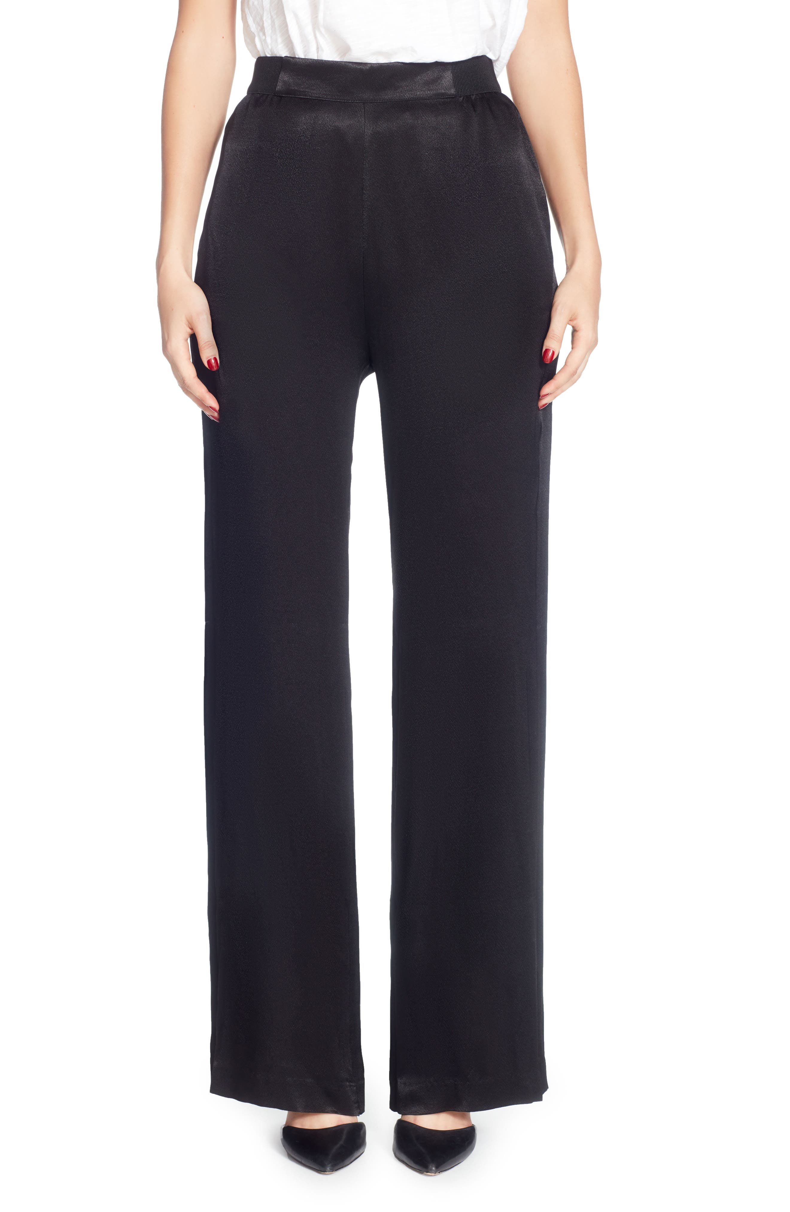 Lief Wide-Leg Pants,                             Main thumbnail 1, color,                             Black
