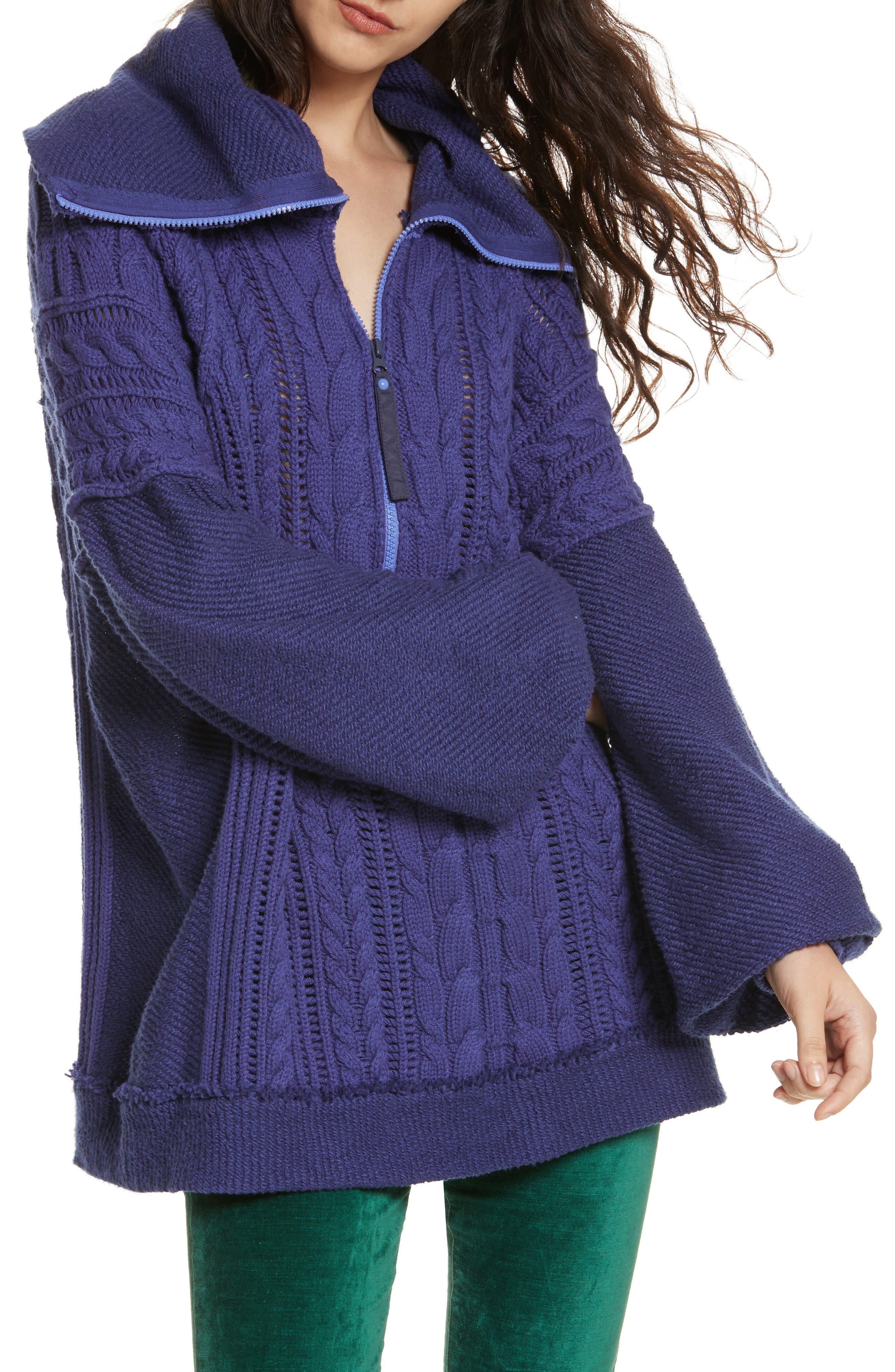 Free People Sunshine Slope Half Zip Sweater