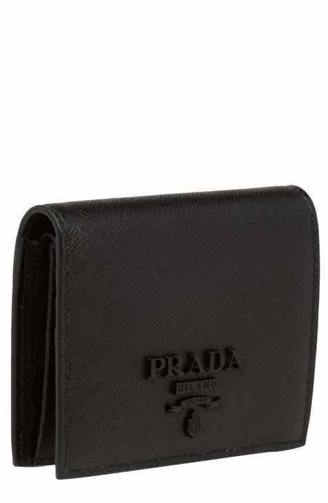 8f7ca24d727b Prada Monochromatic Logo Saffiano Leather Wallet