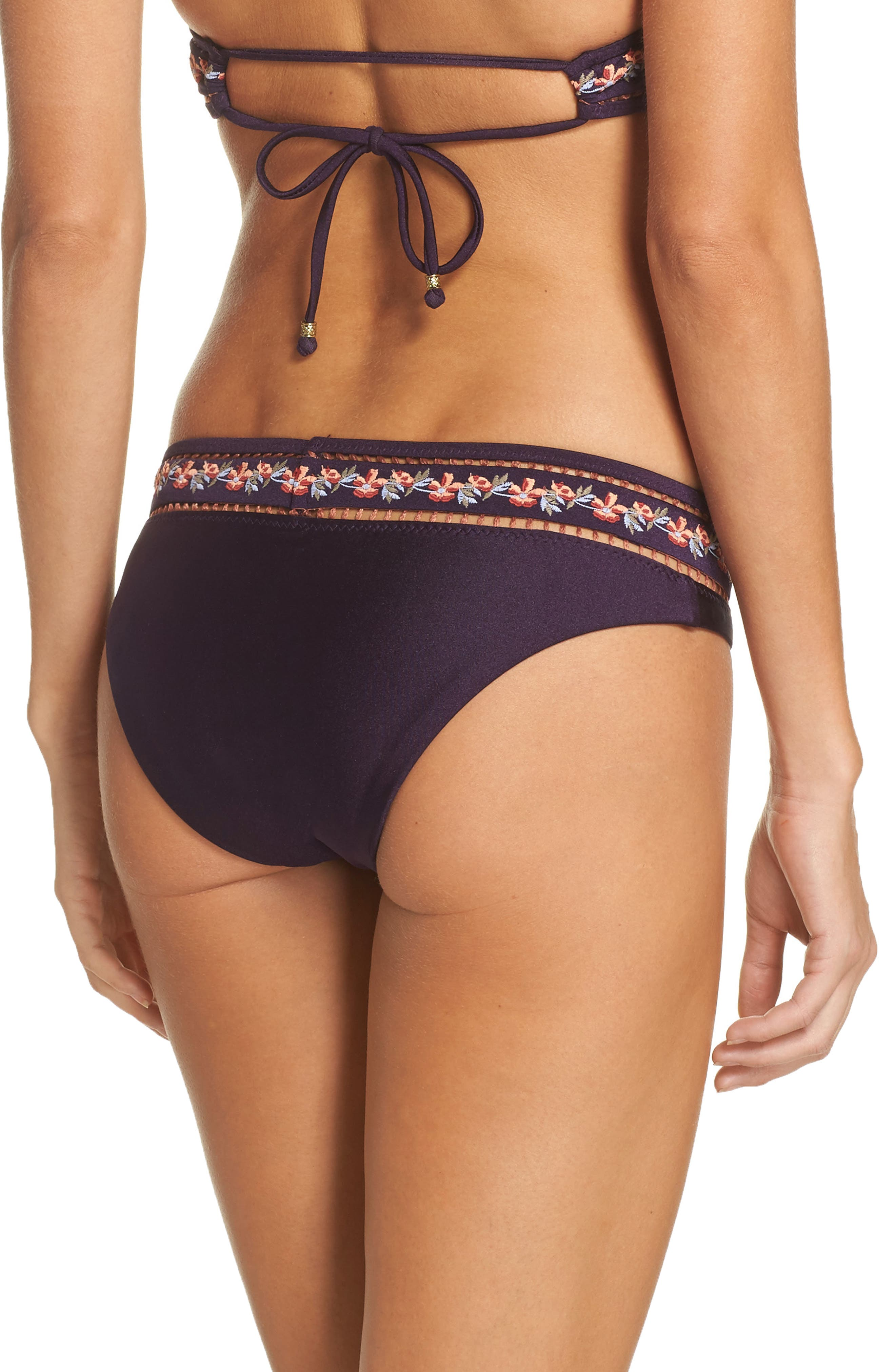 In the Mix High Cut Bikini Bottoms,                             Alternate thumbnail 2, color,                             Plum
