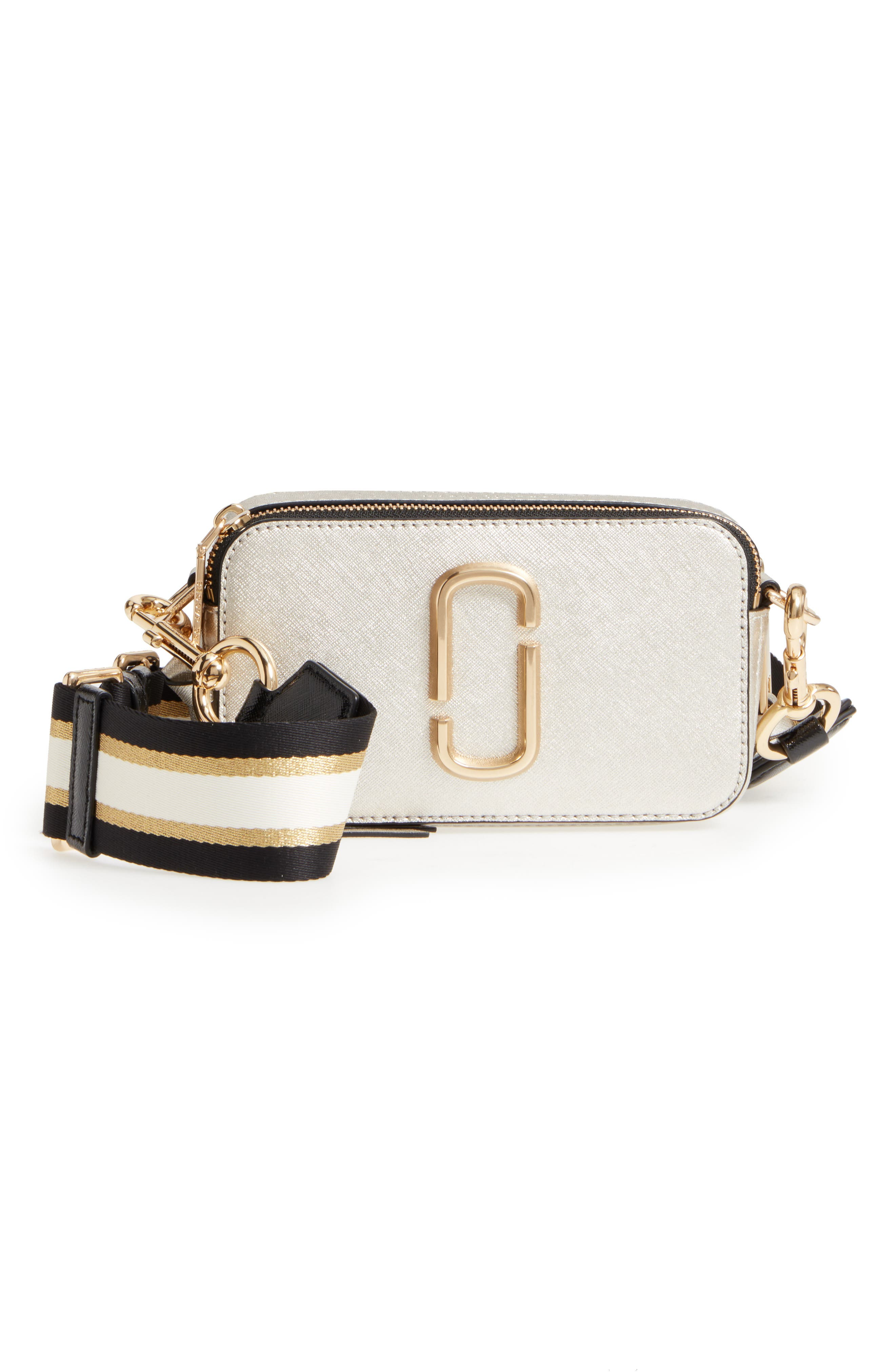 Alternate Image 1 Selected - MARC JACOBS Snapshot Leather Crossbody Bag