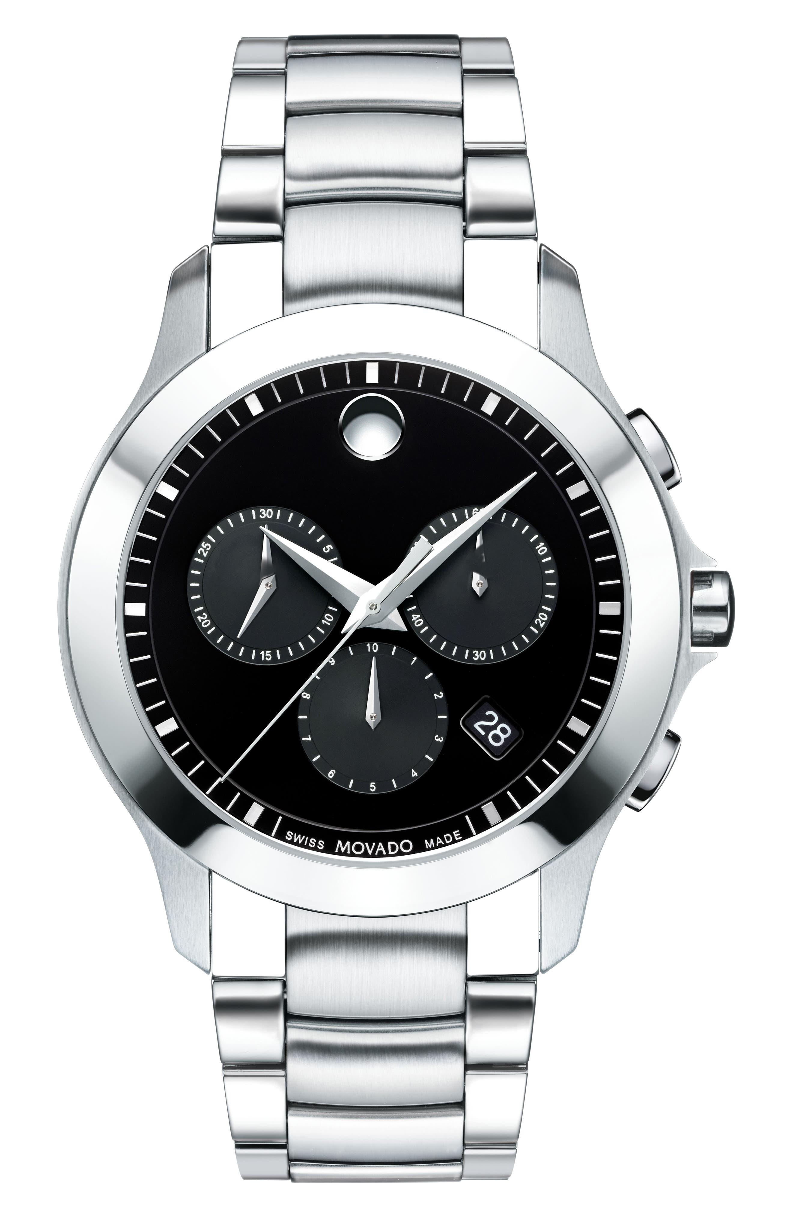 Movado Masino Chronograph Bracelet Watch, 39mm
