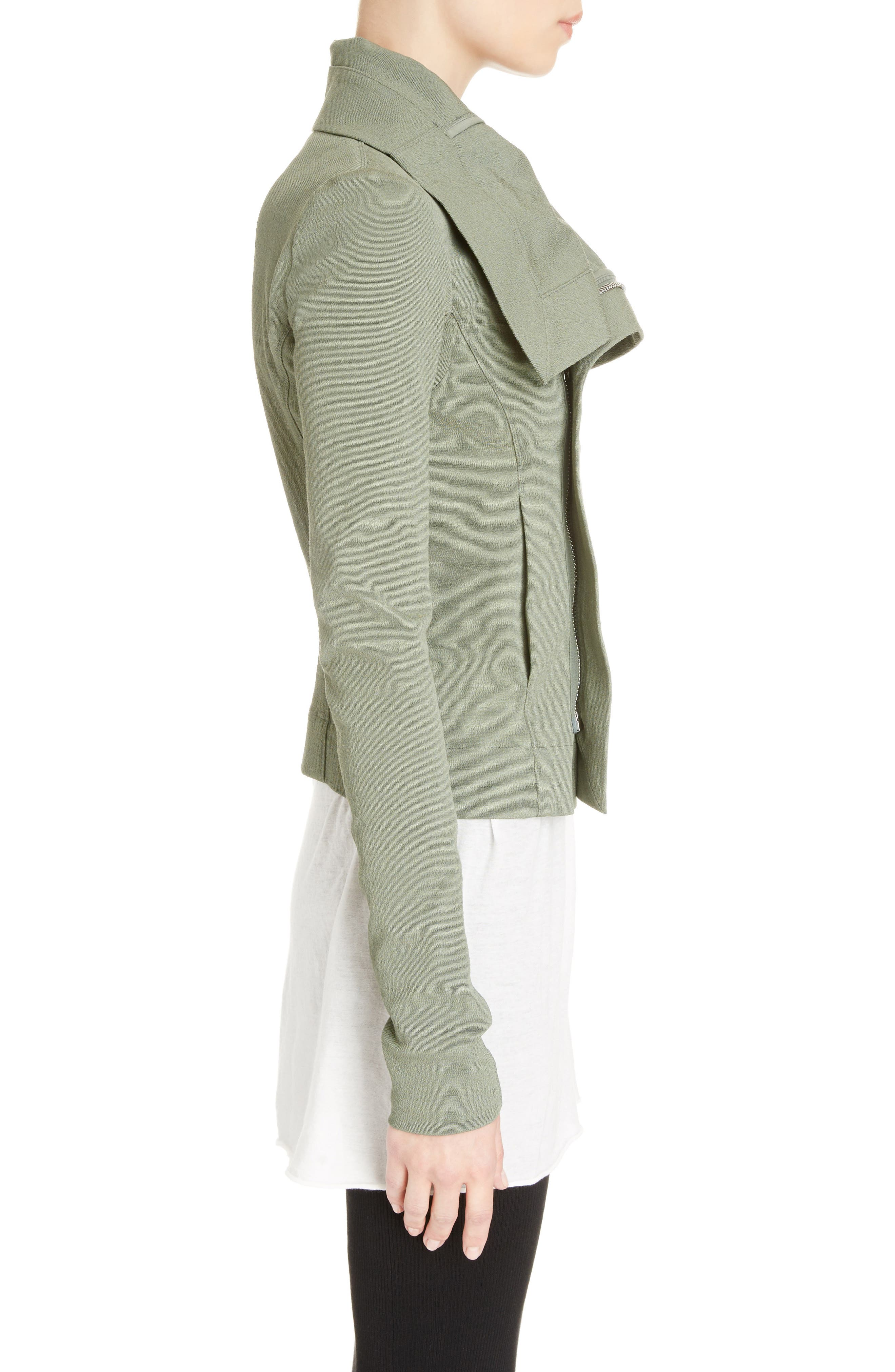 Alternate Image 3  - Rick Owens Cotton Blend Biker Jacket