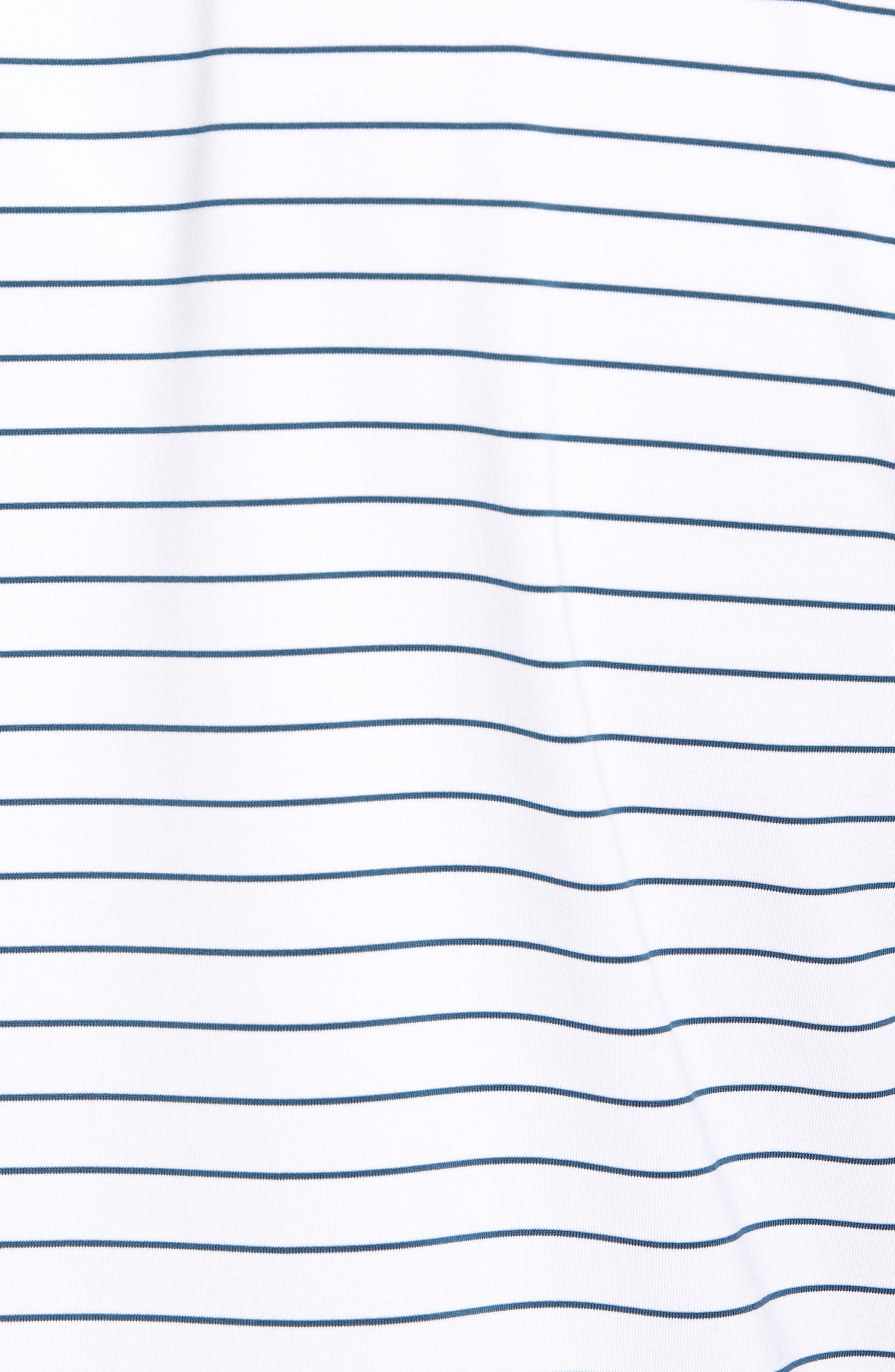 Alternate Image 5  - Peter Millar Halifax Pinstripe Stretch Jersey Polo