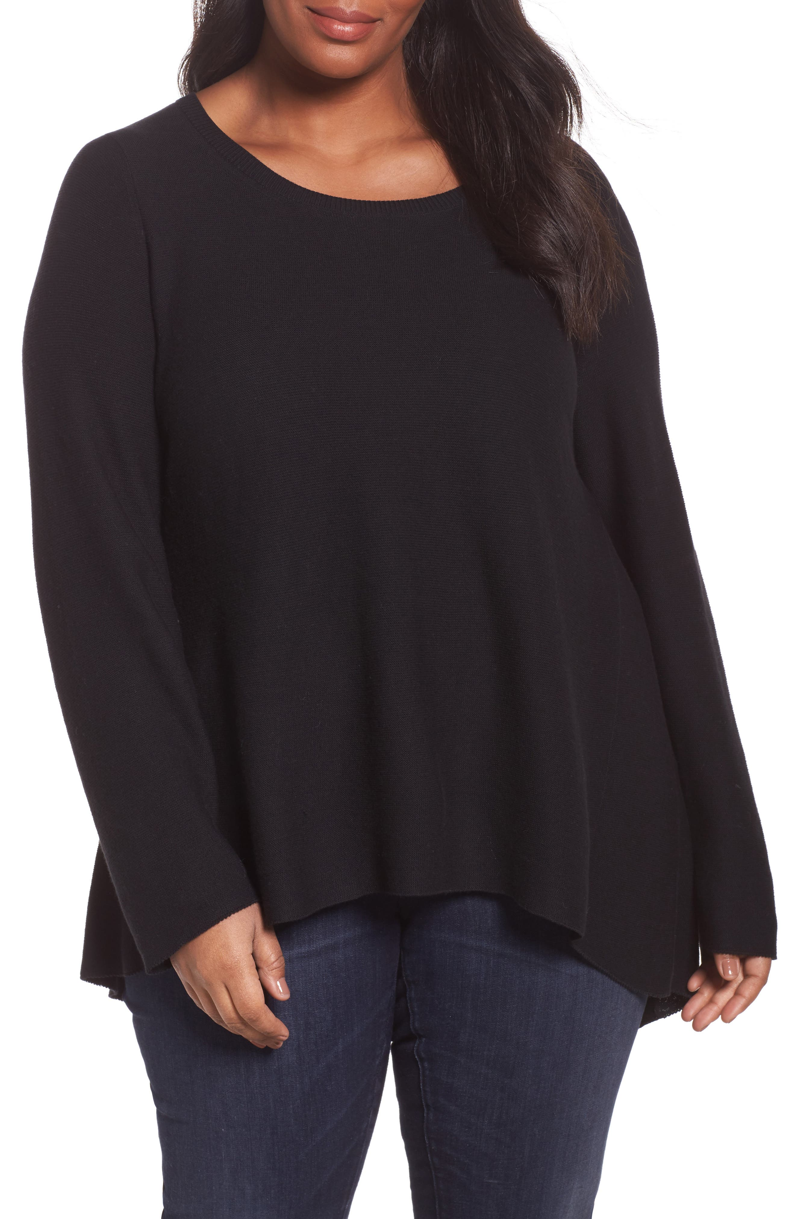 Eileen Fisher Cottons ORGANIC COTTON HIGH/LOW TUNIC