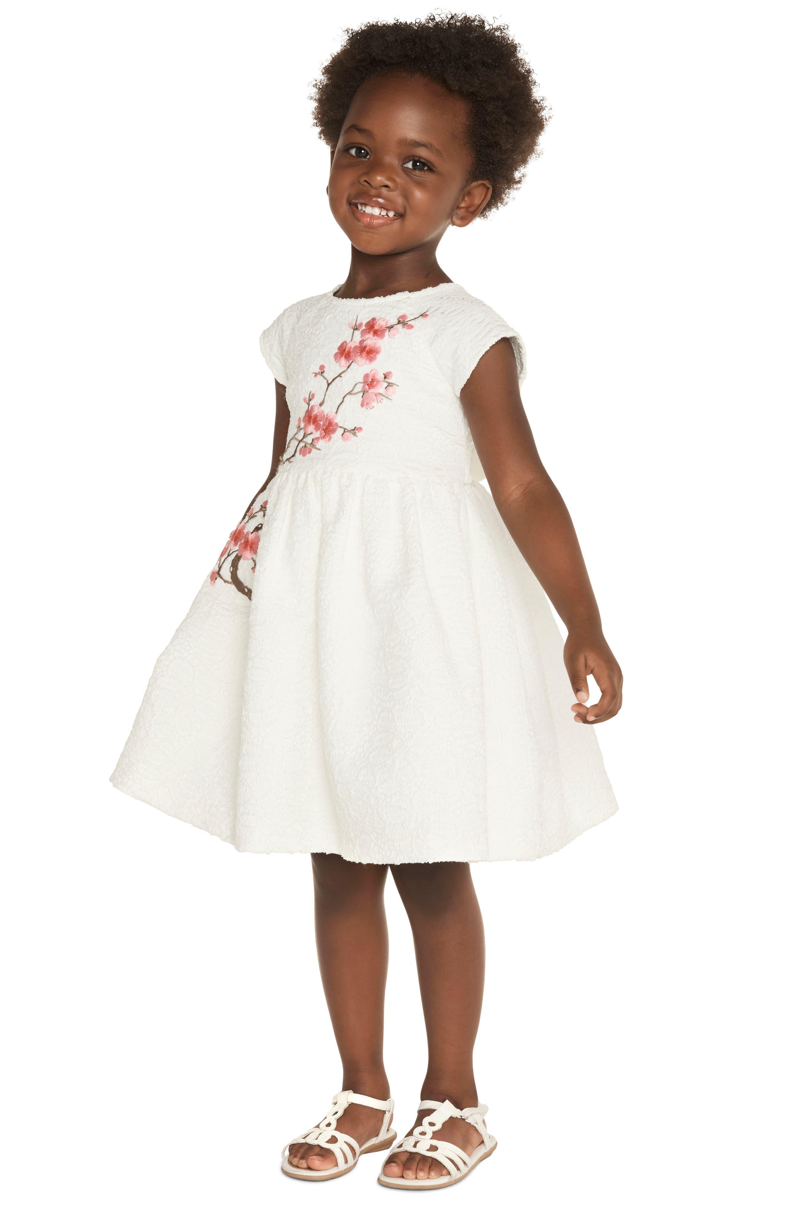 Cherry Blossom Dress,                             Alternate thumbnail 3, color,                             White