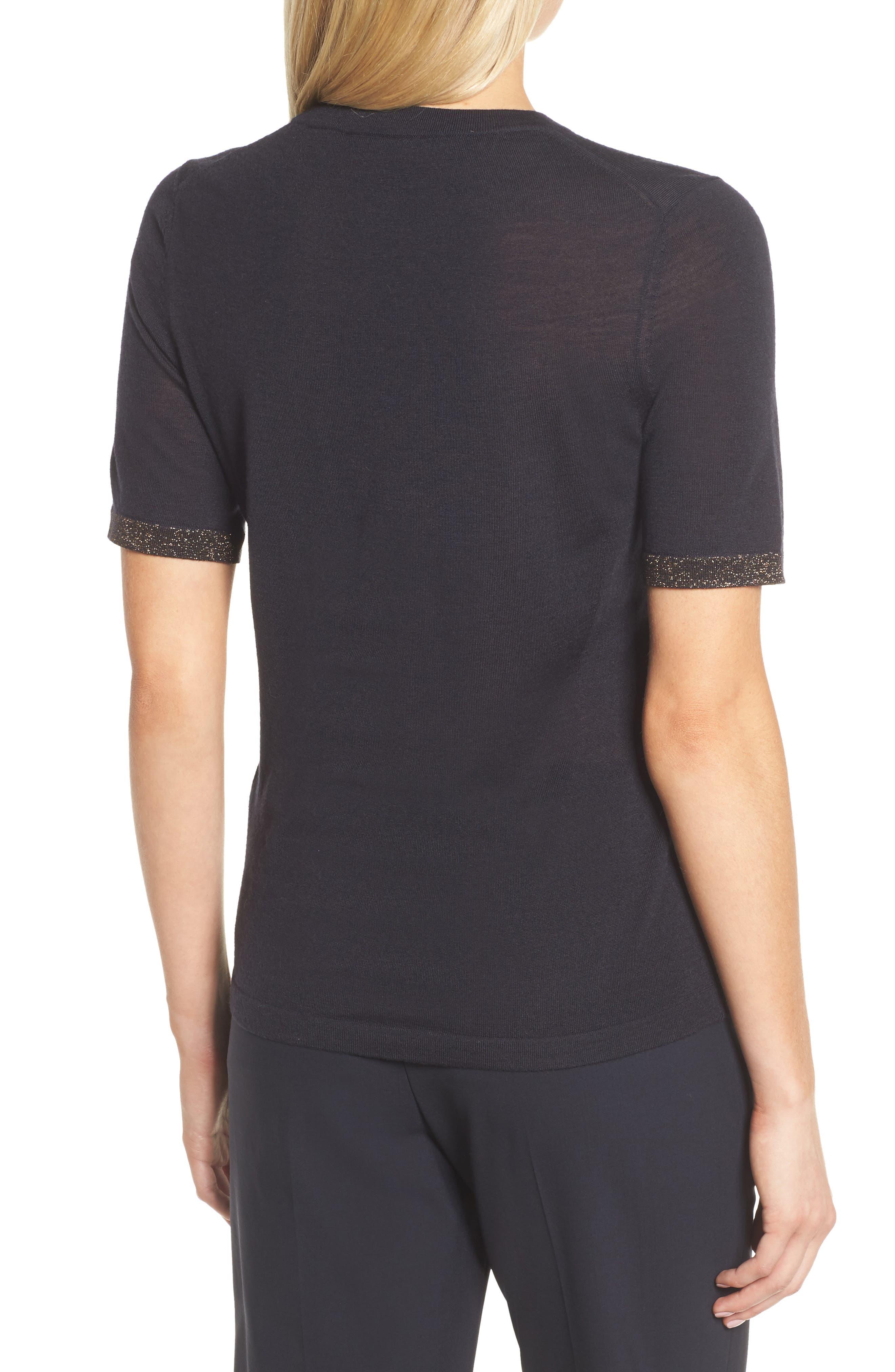 Alternate Image 2  - BOSS Fifet Sparkle Trim Sweater
