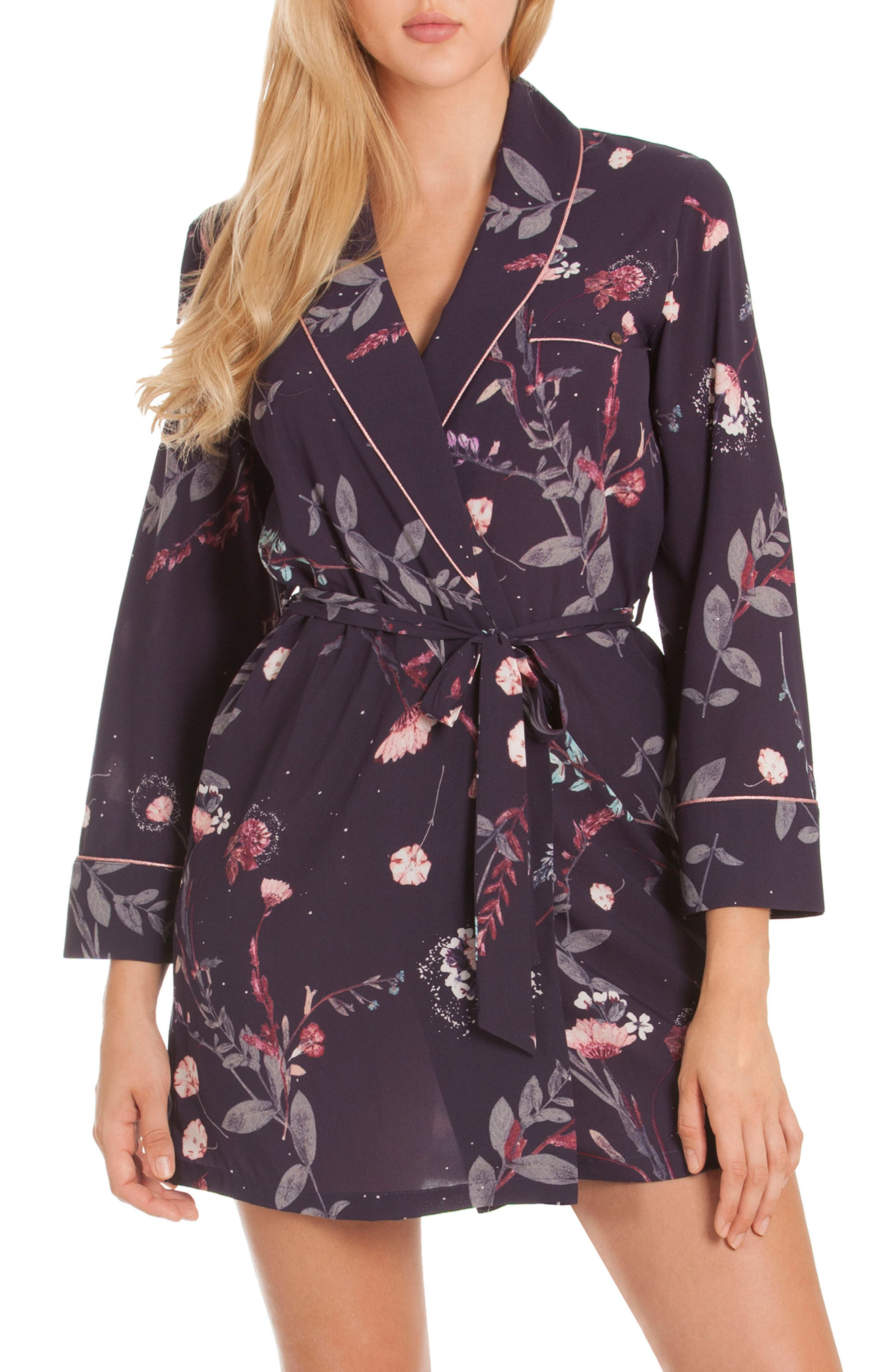Print Short Robe,                             Main thumbnail 1, color,                             Meadow
