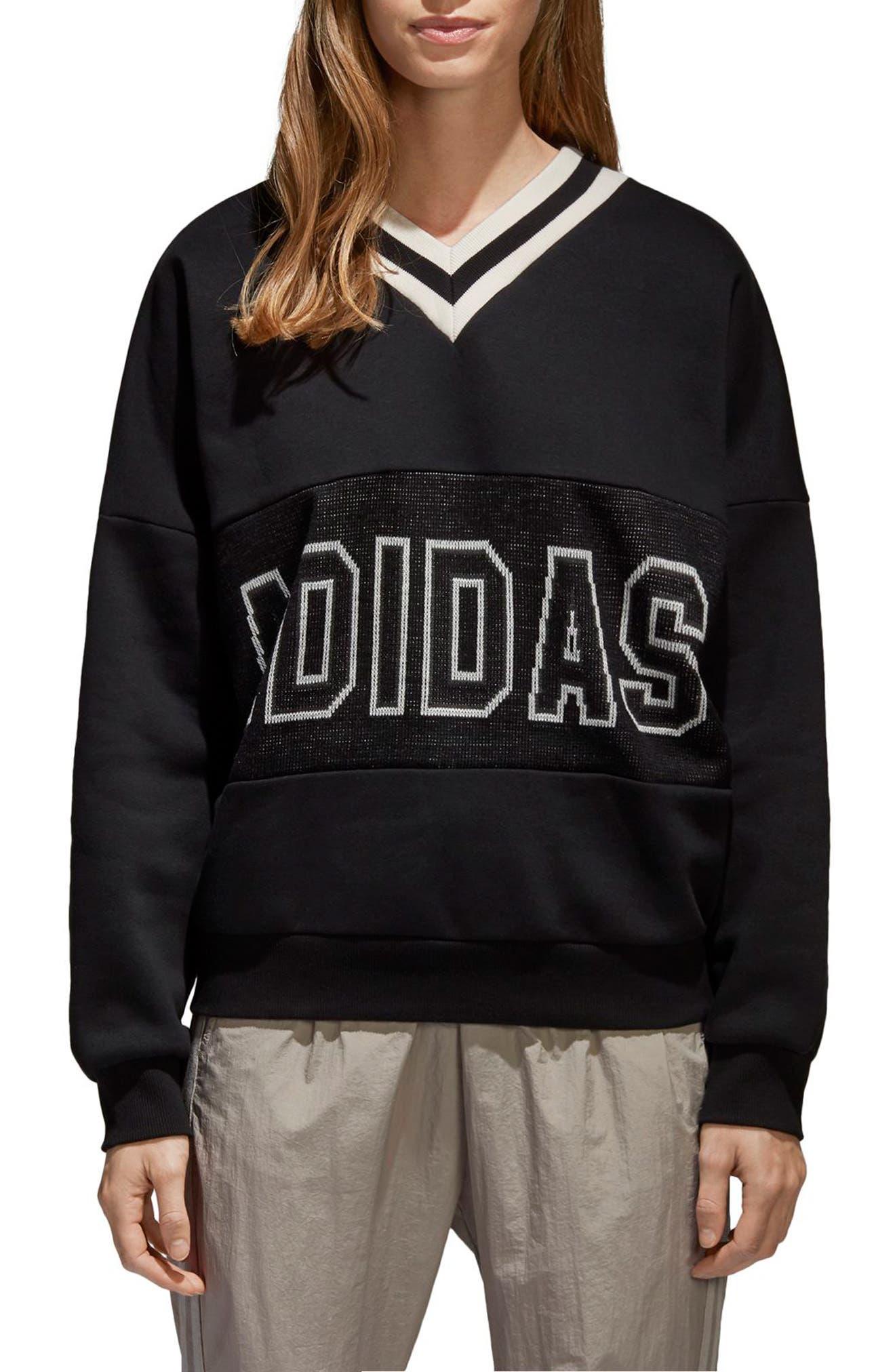 adidas pullover v-neck