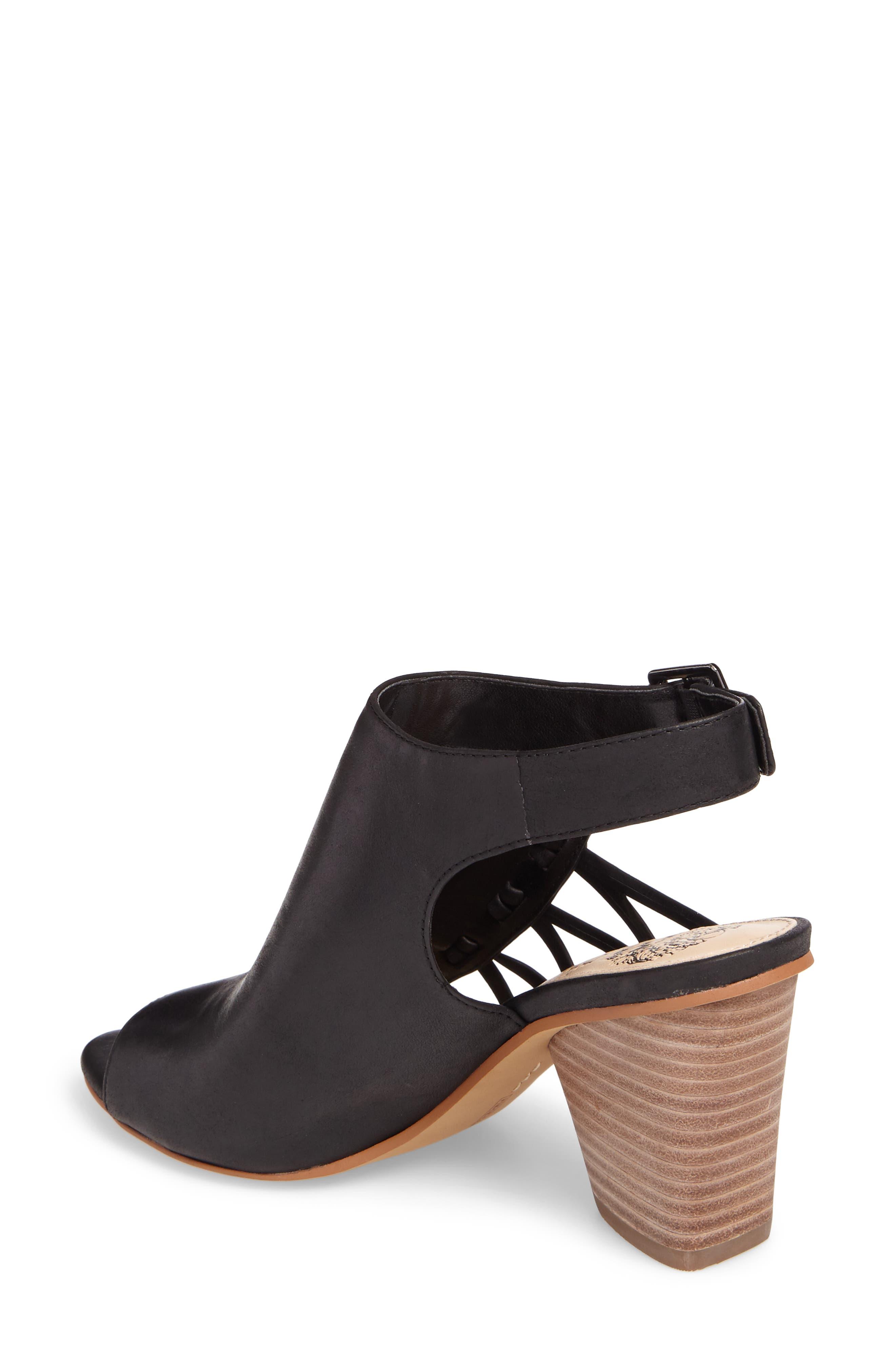 Ankara Sandal,                             Alternate thumbnail 2, color,                             Black Leather