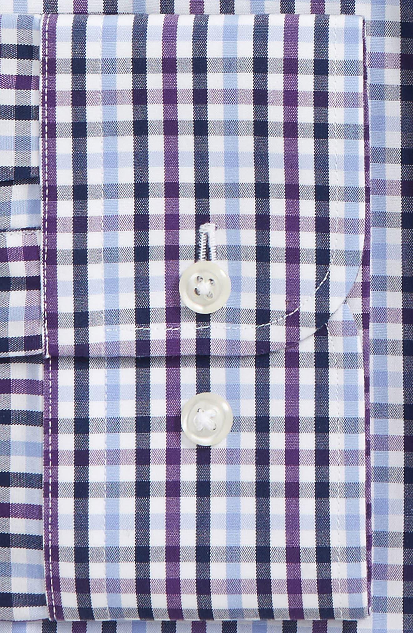 Smartcare<sup>™</sup> Trim Fit Check Dress Shirt,                             Alternate thumbnail 2, color,                             Purple Pansy