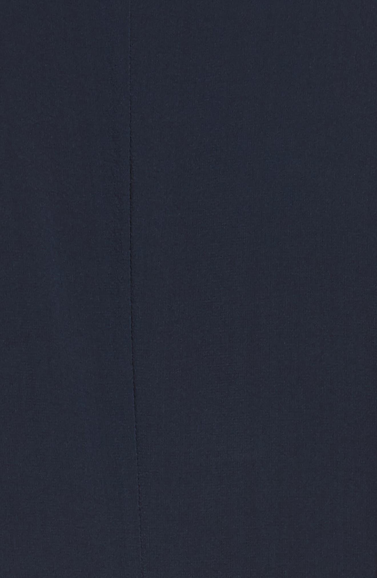 Claudie Ruffle Button-Down Maxi Dress,                             Alternate thumbnail 5, color,                             Sapphire