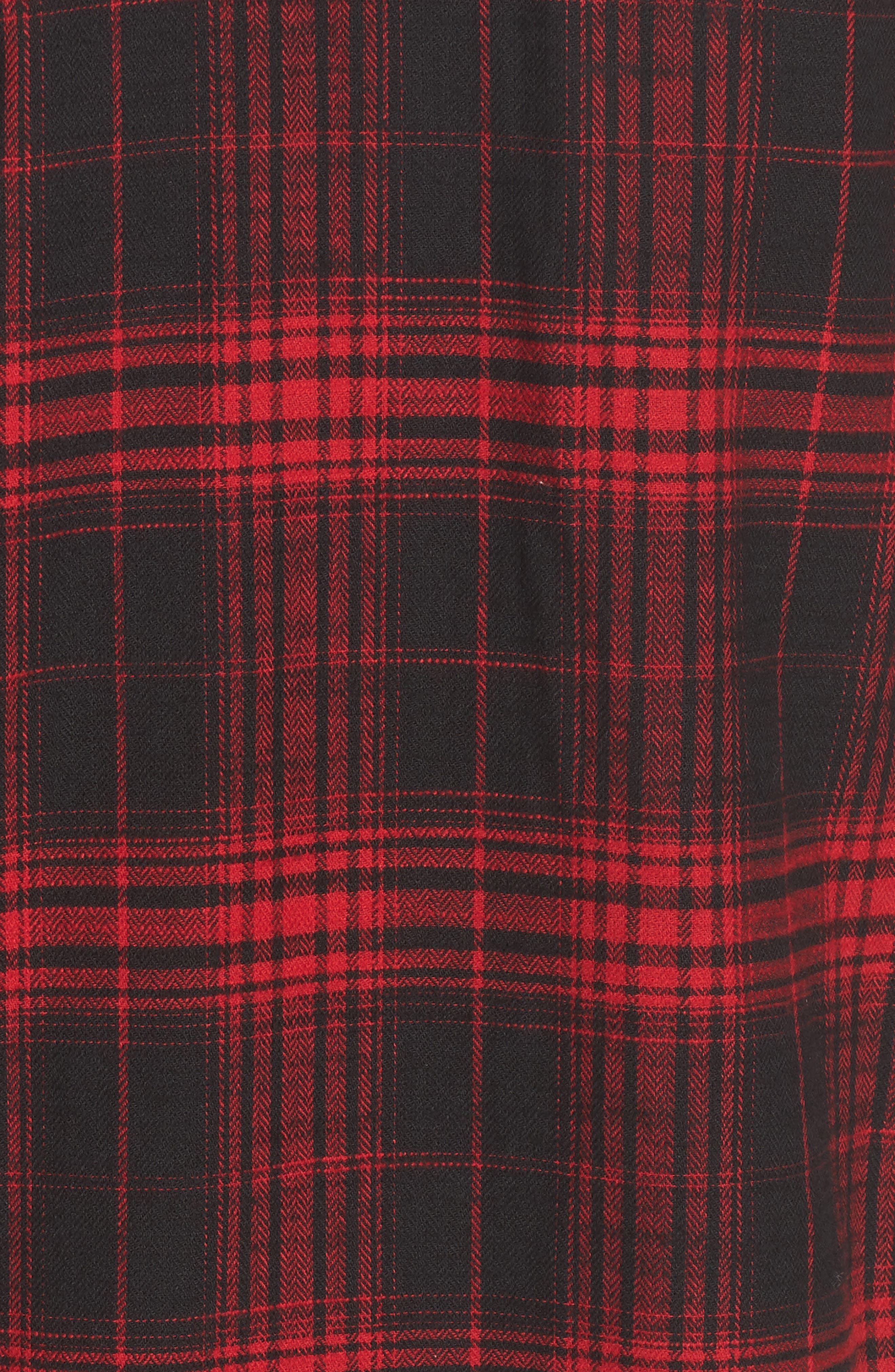 Victoria Oversize Flannel Shirt,                             Alternate thumbnail 5, color,                             Red Flannel