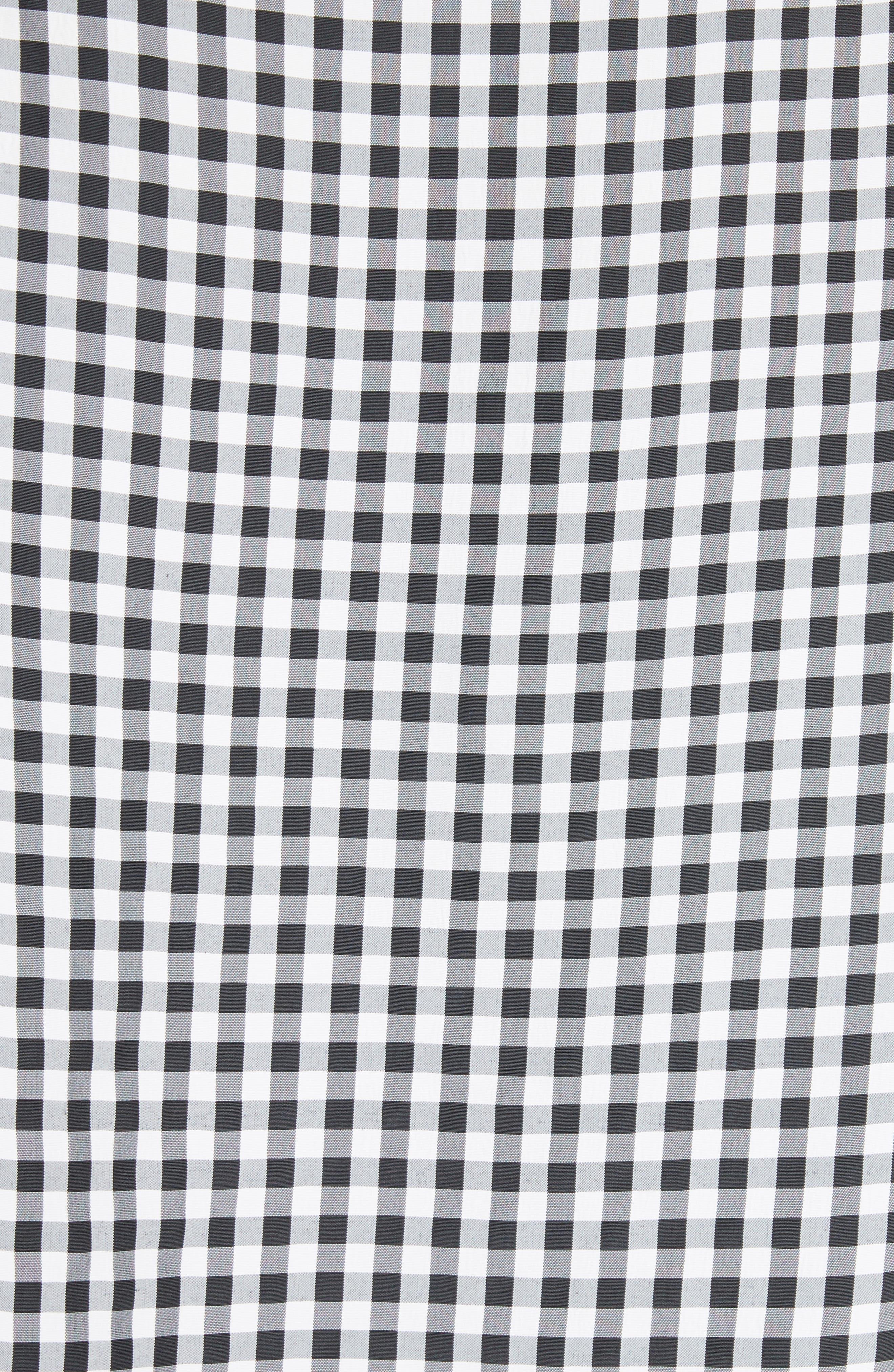 Gingham Top,                             Alternate thumbnail 5, color,                             Black Multi