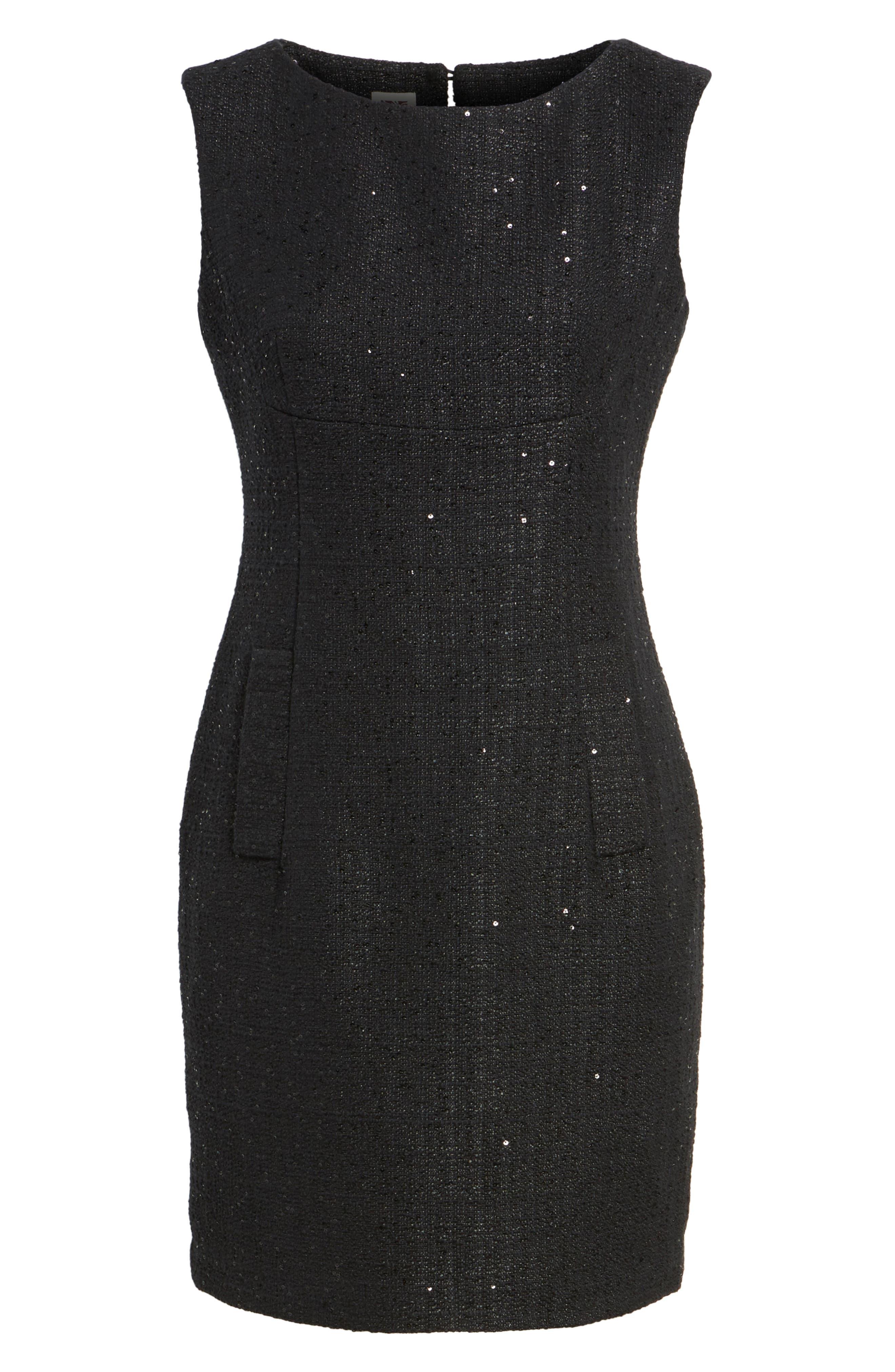 Alternate Image 6  - Anne Klein New York Sequin Tweed Sheath Dress