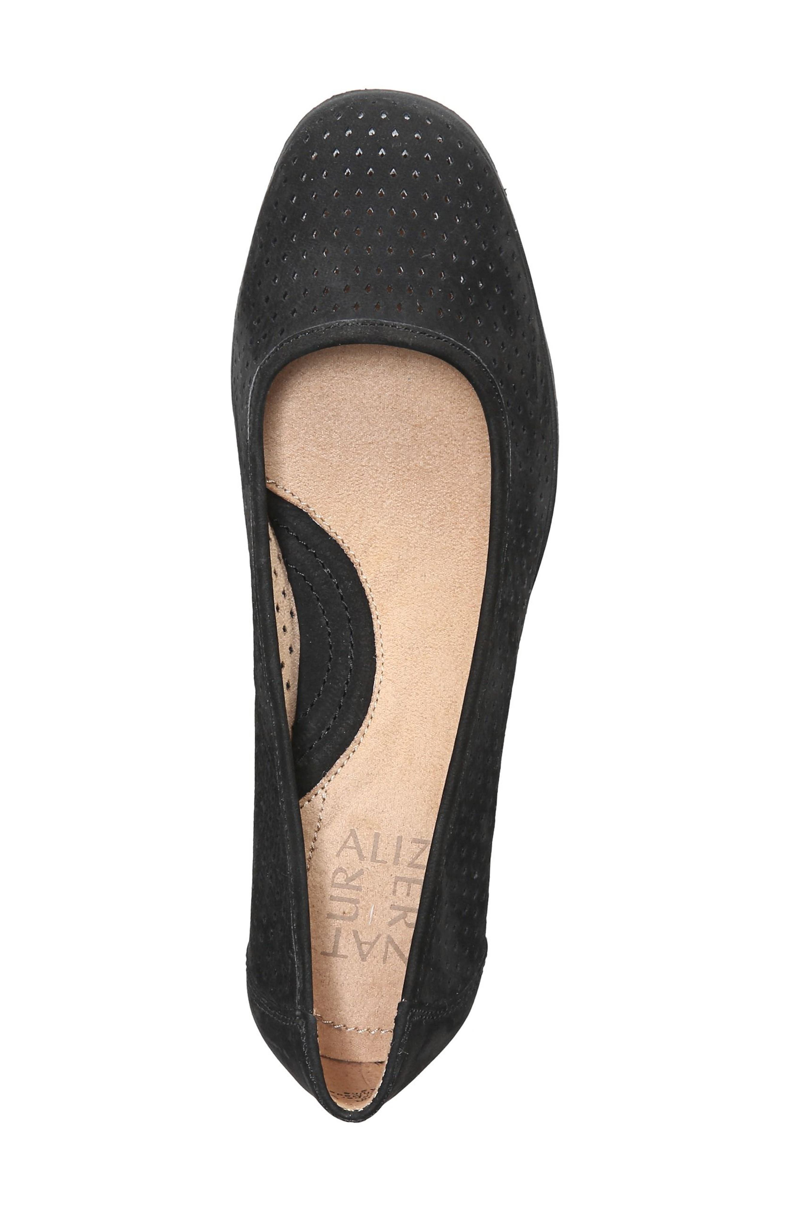Betina II Wedge,                             Alternate thumbnail 5, color,                             Black Leather