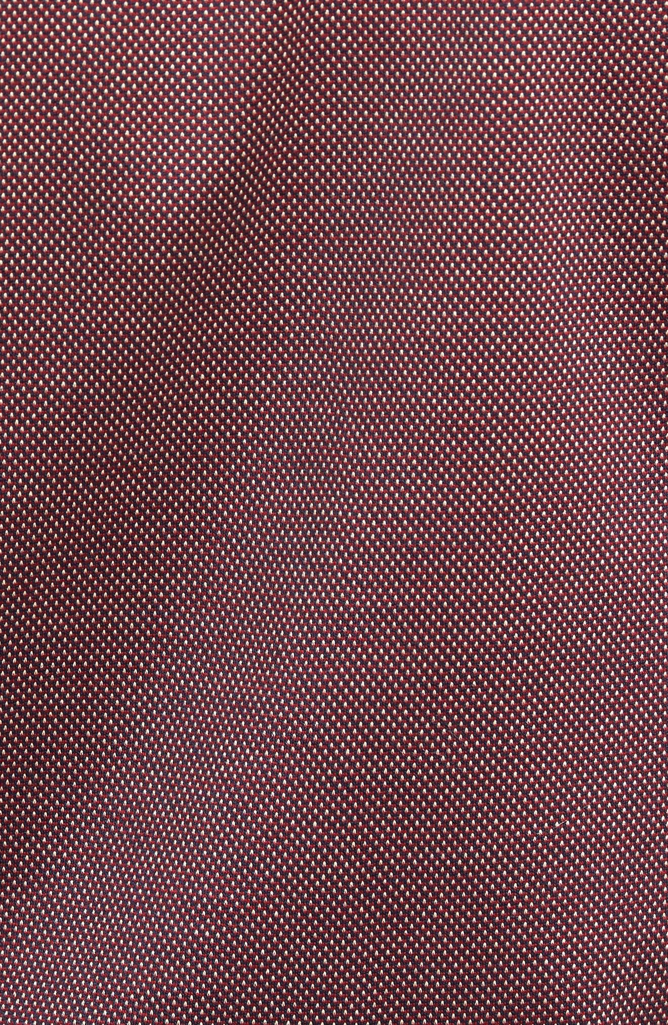 Verde Jacquard Mercerized Cotton Polo,                             Alternate thumbnail 5, color,                             Brick Red