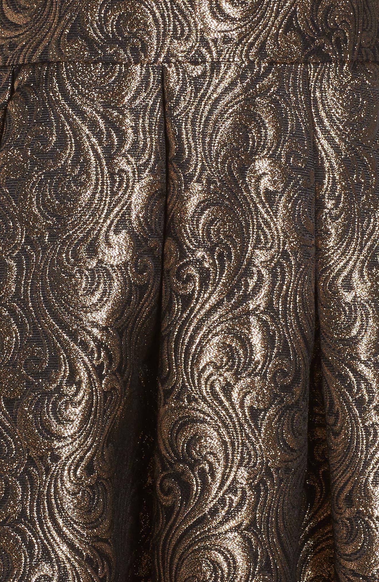 Alternate Image 5  - Eliza J Embellished Mixed Media Ballgown